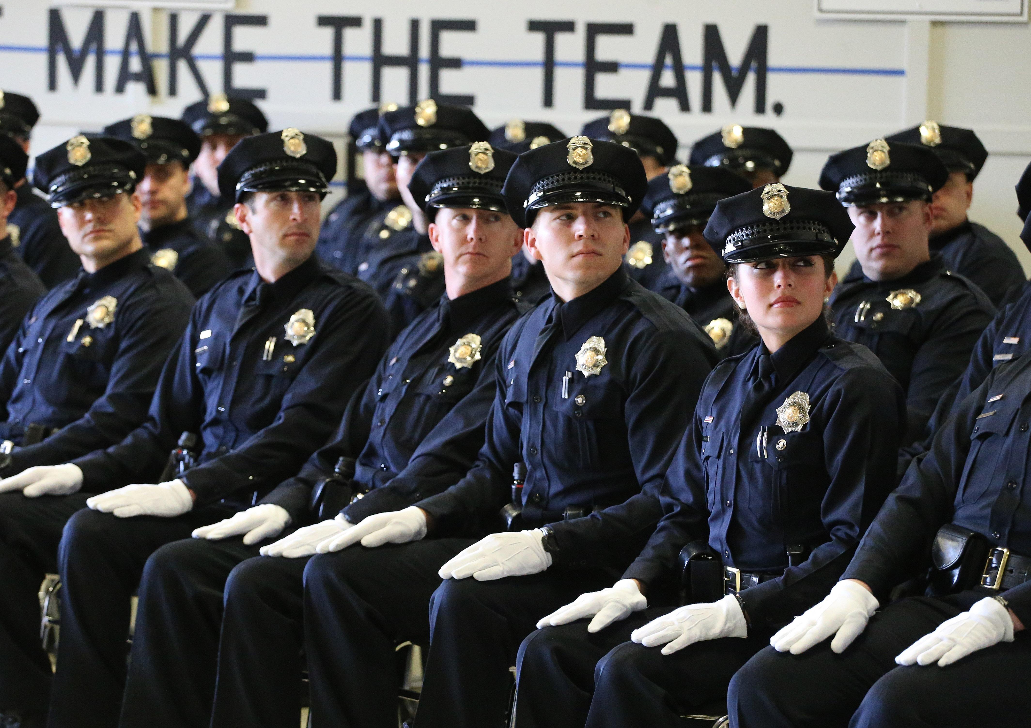 Photo: Denver police graduation (AP Photo)