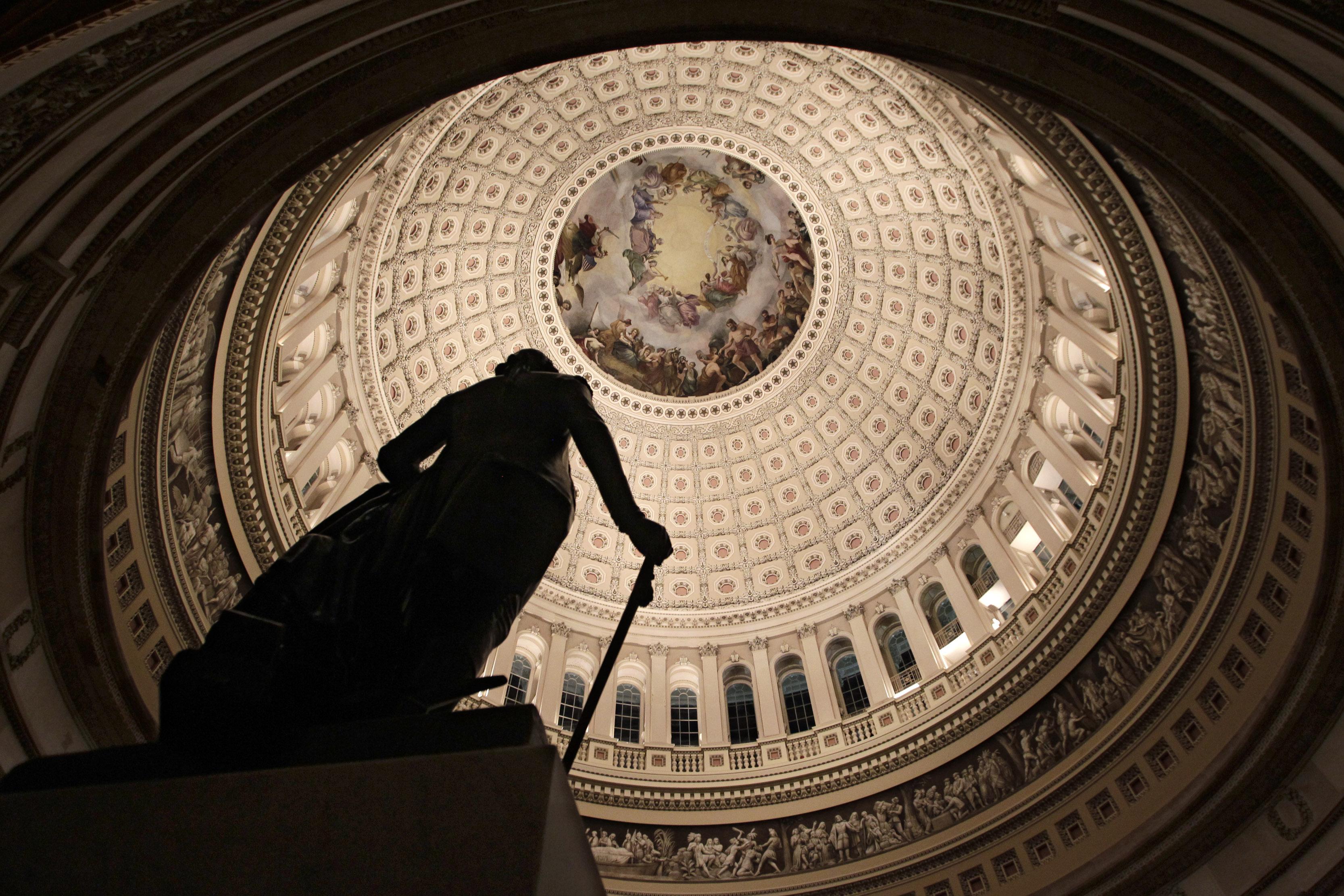 The rotunda of the U.S. Capitol.