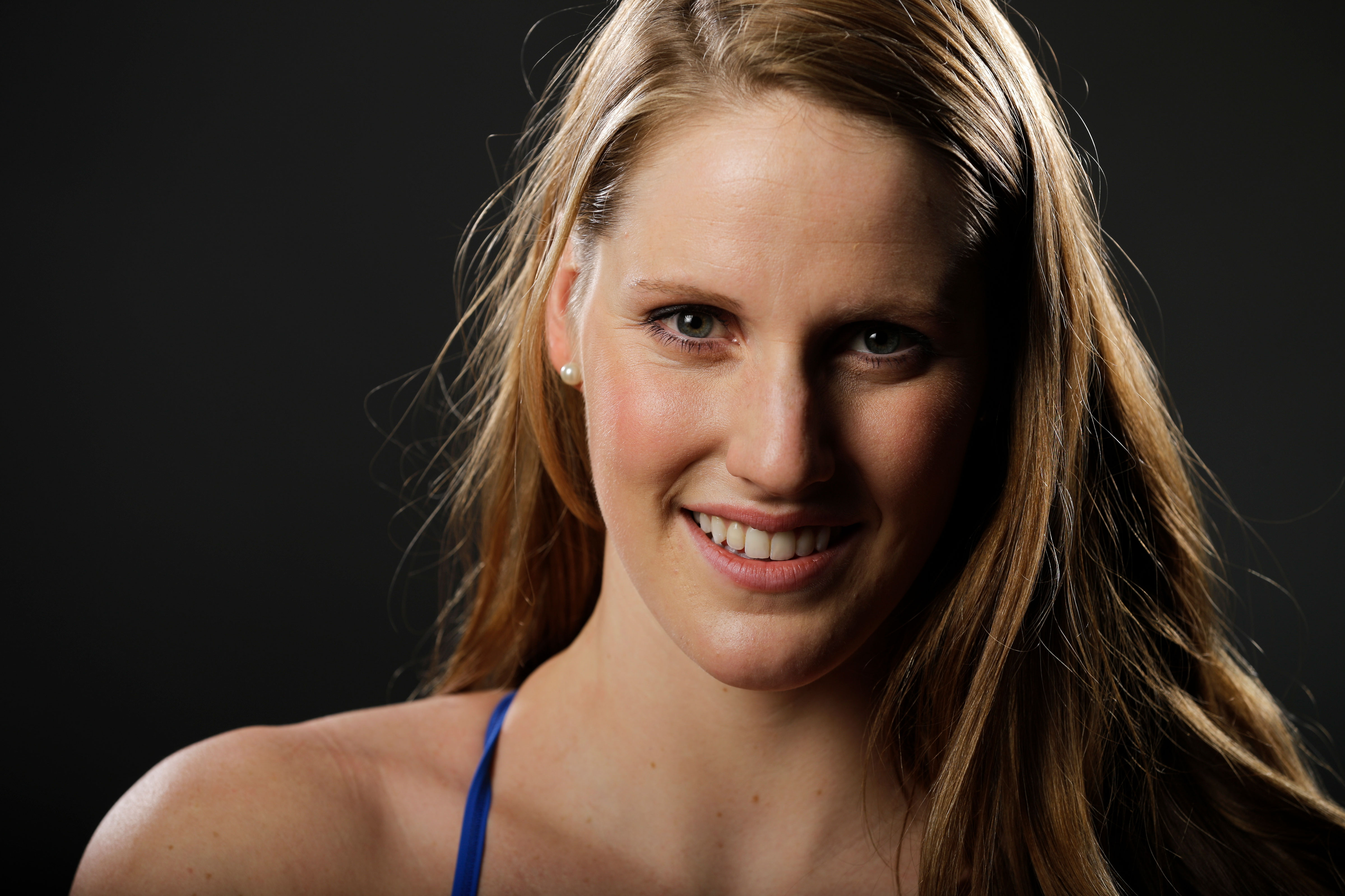 <p>Swimmer Missy Franklin poses for photos at the 2016 Team USA Media Summit, March 2016.</p>