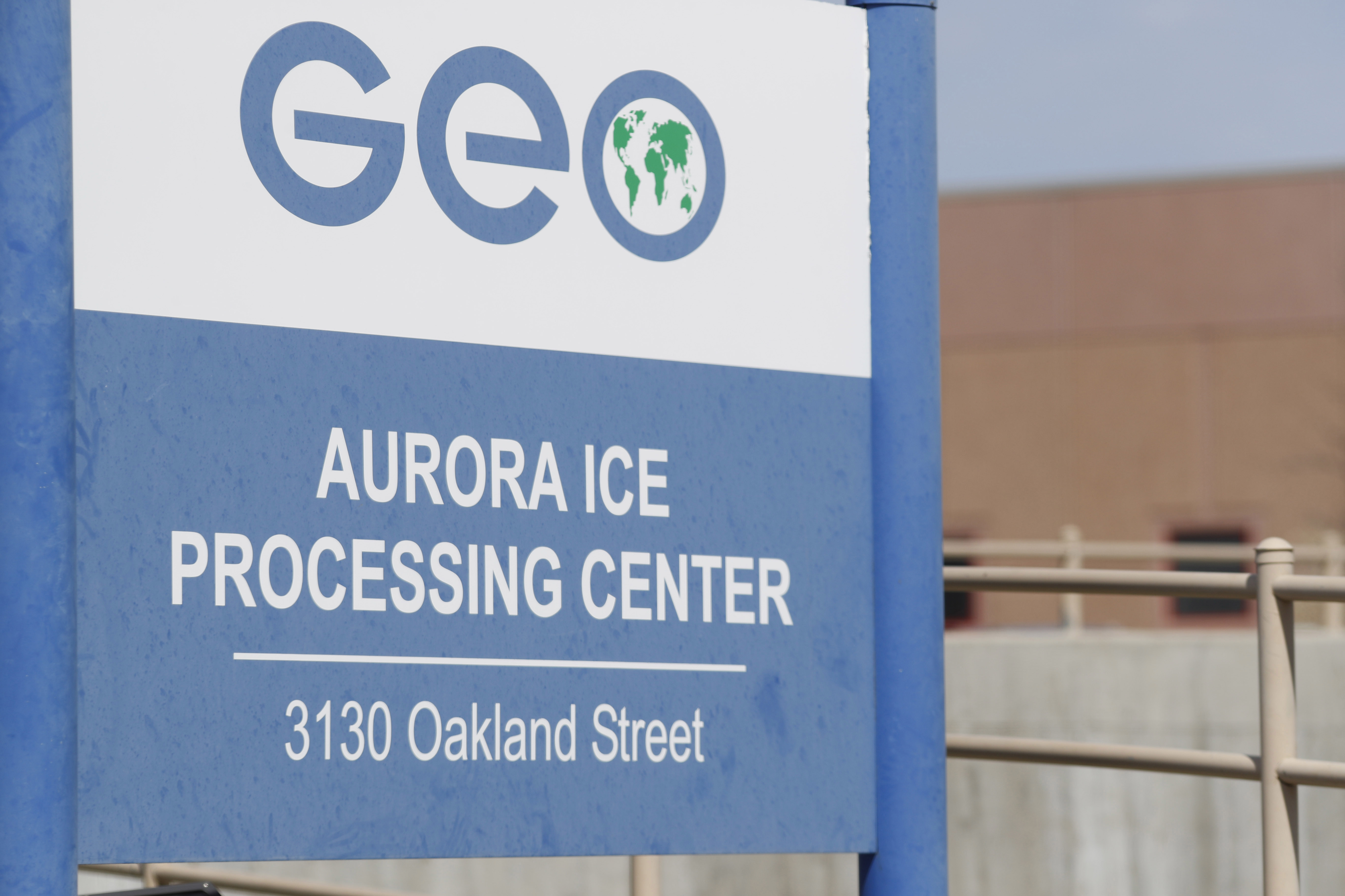 Photo: GEO Group's immigrant detention facility in Aurora, Colo. (AP)