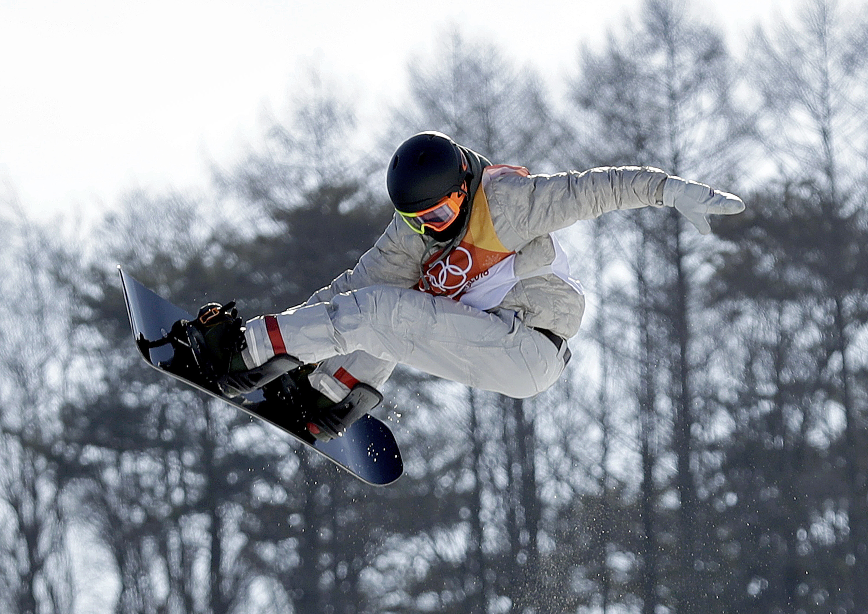 Photo: Red Gerard Snowboard 2018 Winter Olympics (AP)