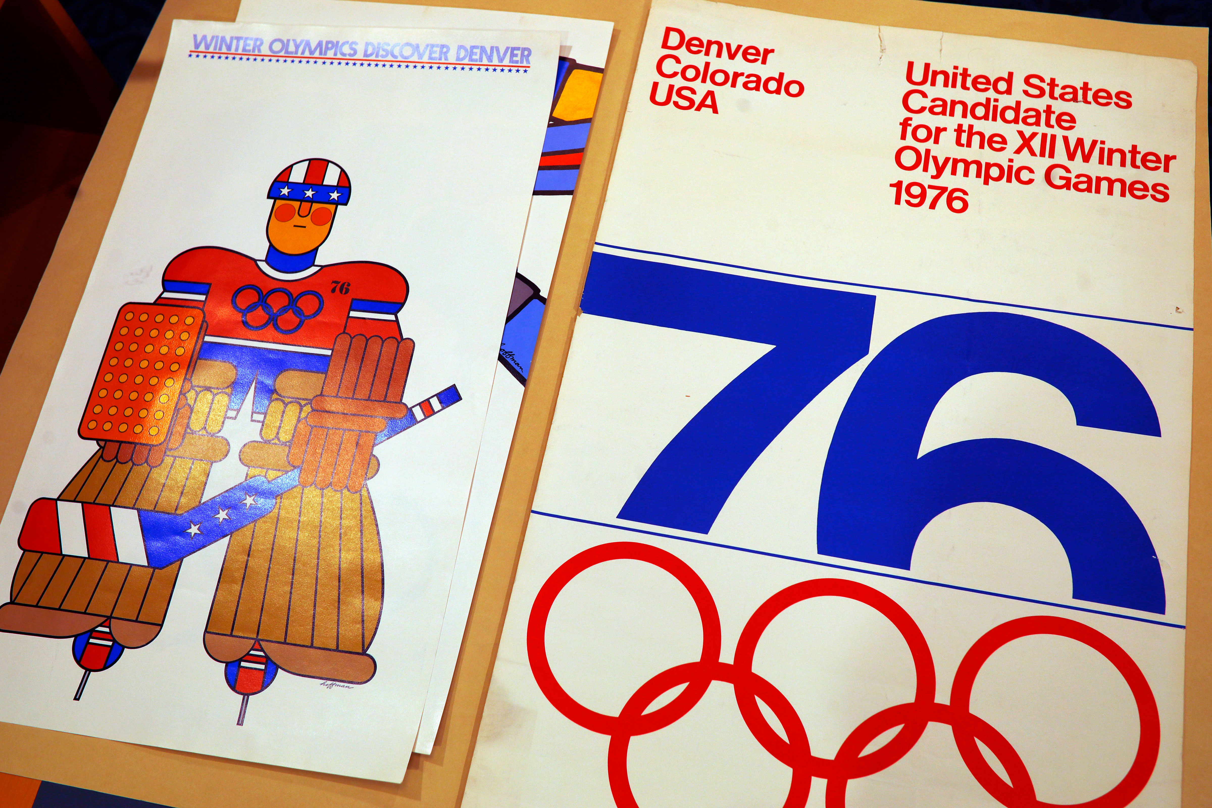 <p>One of the posters used in Colorado's effort to secure an Olympic bid in 1976 is part of the memorabilia collection of the Denver Public Library.</p>
