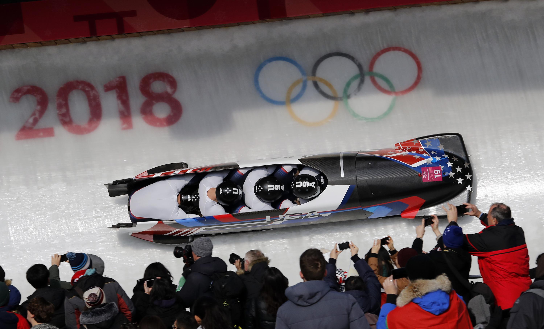 Photo: Nathan Weber Bobsled 2018 Winter Olympics (AP)