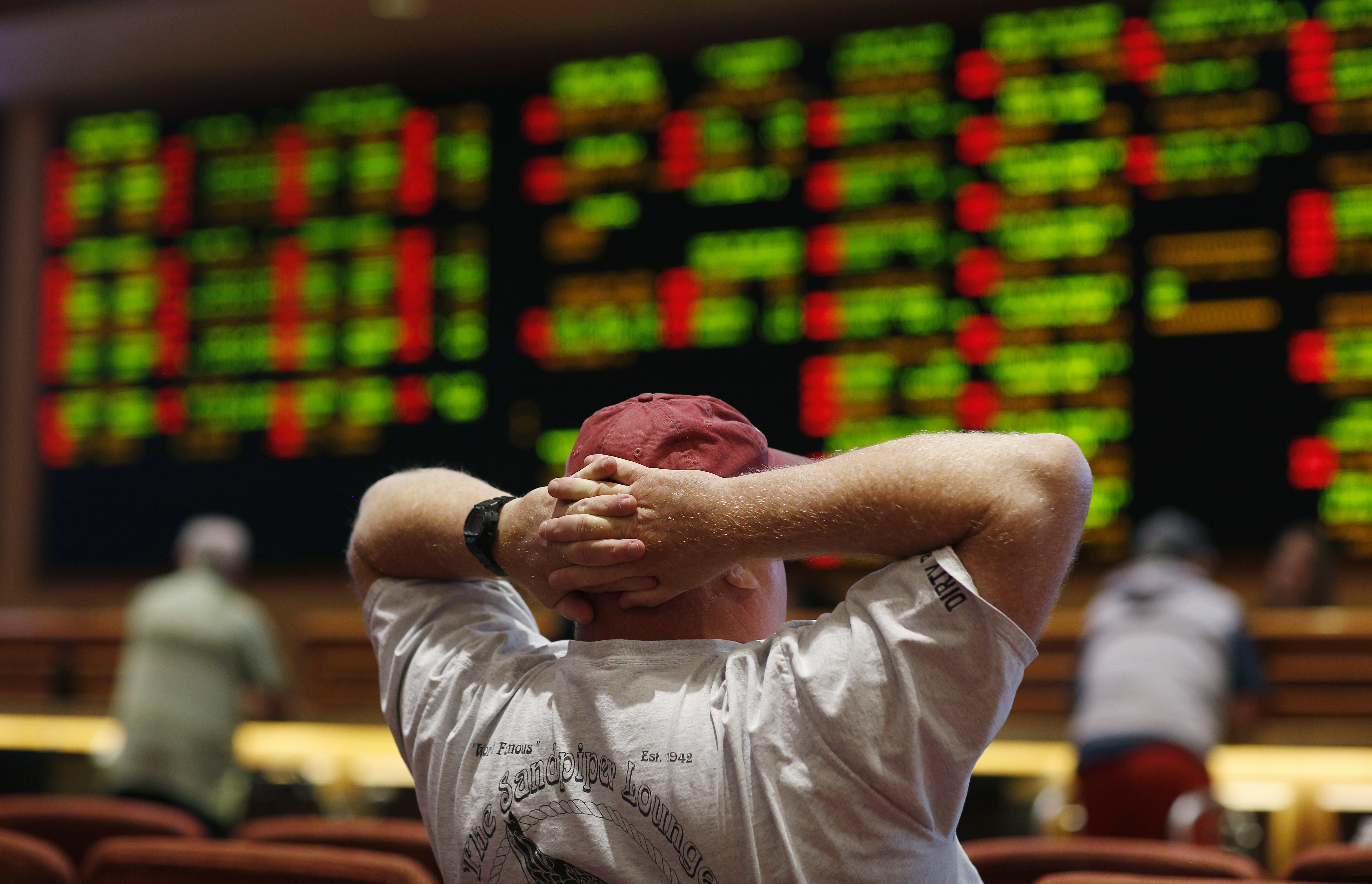 <p>A man watches a baseball game in the sports book at the South Point hotel-casino, Monday, May 14, 2018, in Las Vegas. The Supreme Court on Monday gave its go-ahead for states to allow gambling on sports across the nation.</p>
