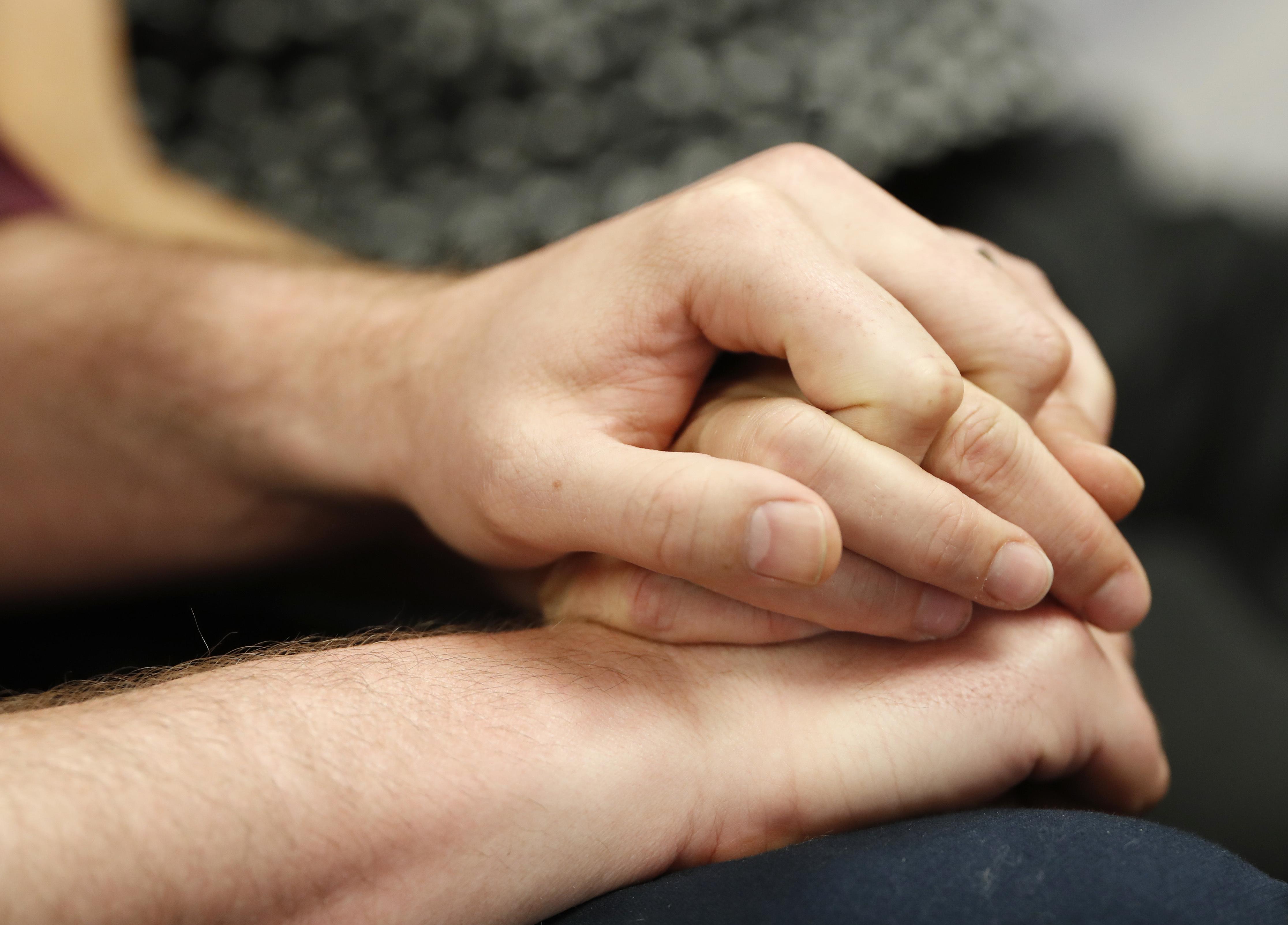Photo: Masterpiece Charlie Craig David Mullins Hold Hands (6-4-18 AP)