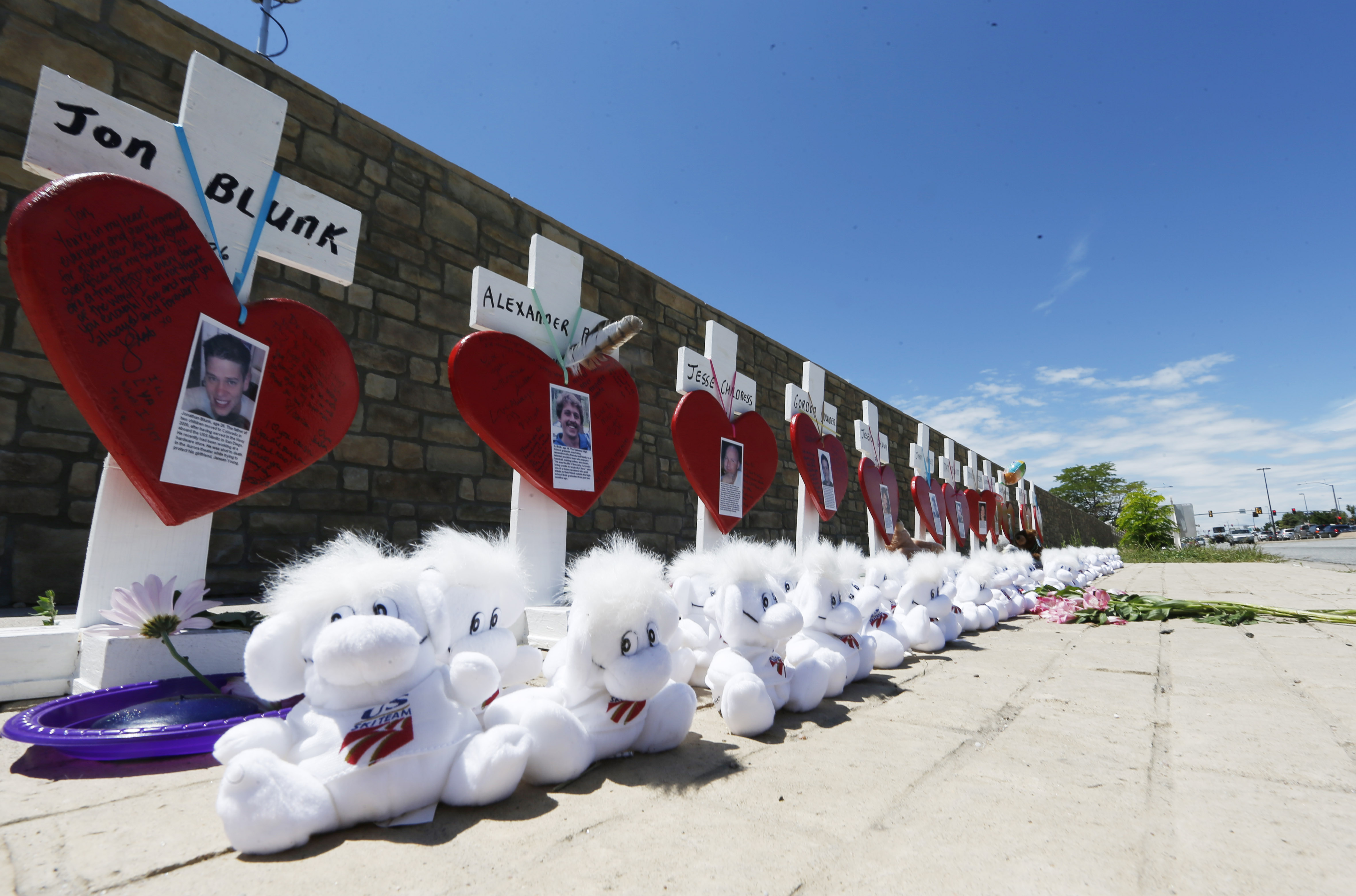Photo: Aurora Theater Shooting Memorial Crosses 2015 (AP Photo)
