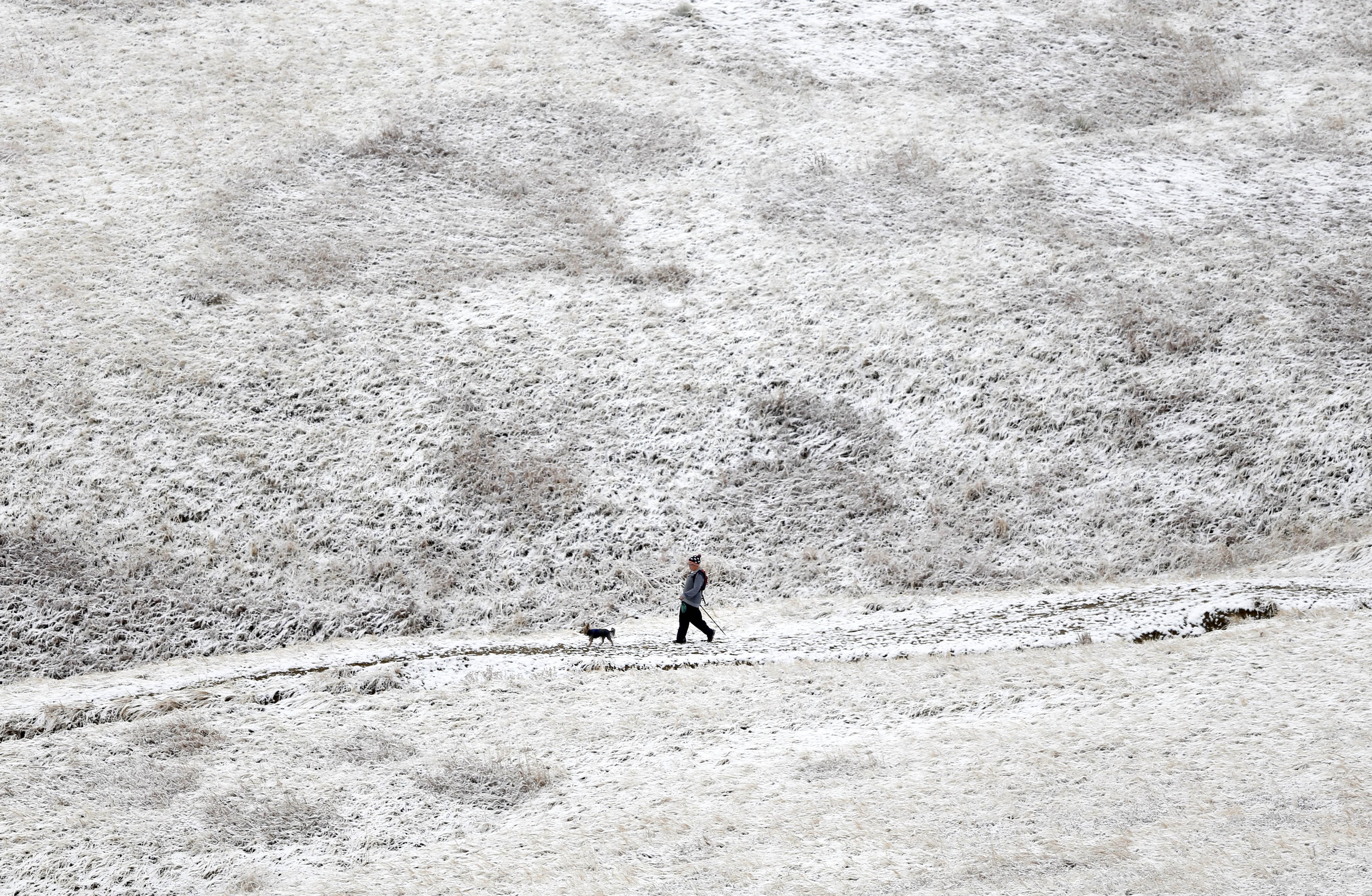 Photo: Boulder snow 11.17.15 (AP Photo)