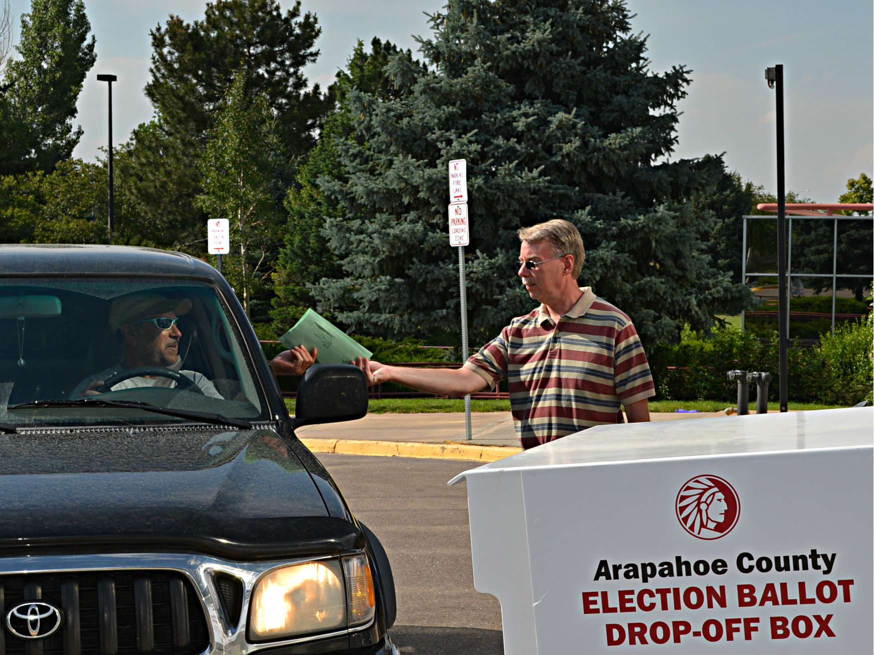 Photo: Ballot drop off in Arapahoe County