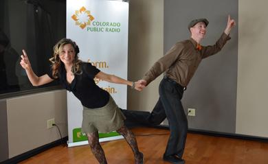 Tiffany Wine and Ceth Stifel perform their Radio Dance