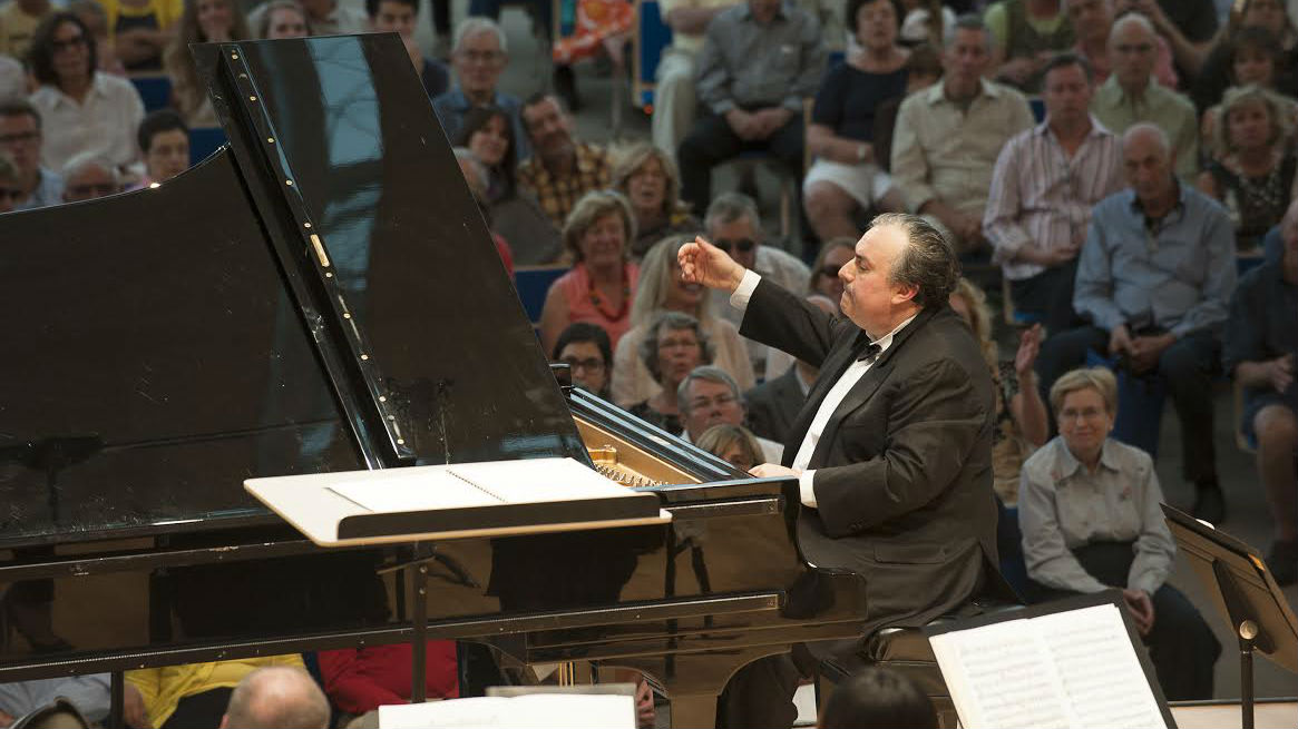 <p>Grammy Award-winning pianist Yefim Bronfman performs at the 2013 Aspen Music Festival</p>