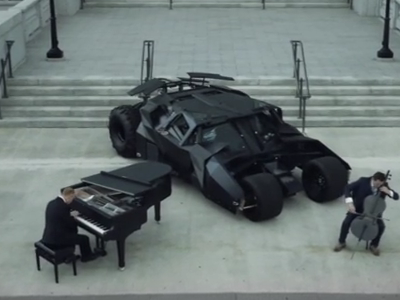 Photo: Piano Guys and Batmobile thumbnail
