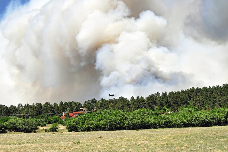 Photo: Black forest fire smoke