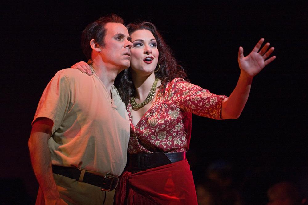 "<p>Adam Klein as Don José and Sandra Piques Eddy as Carmen in Opera Colorado's ""Carmen.""</p>"
