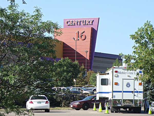 Photo: The Aurora movie theater where 12 people were killed in a July 2012 mass shooting