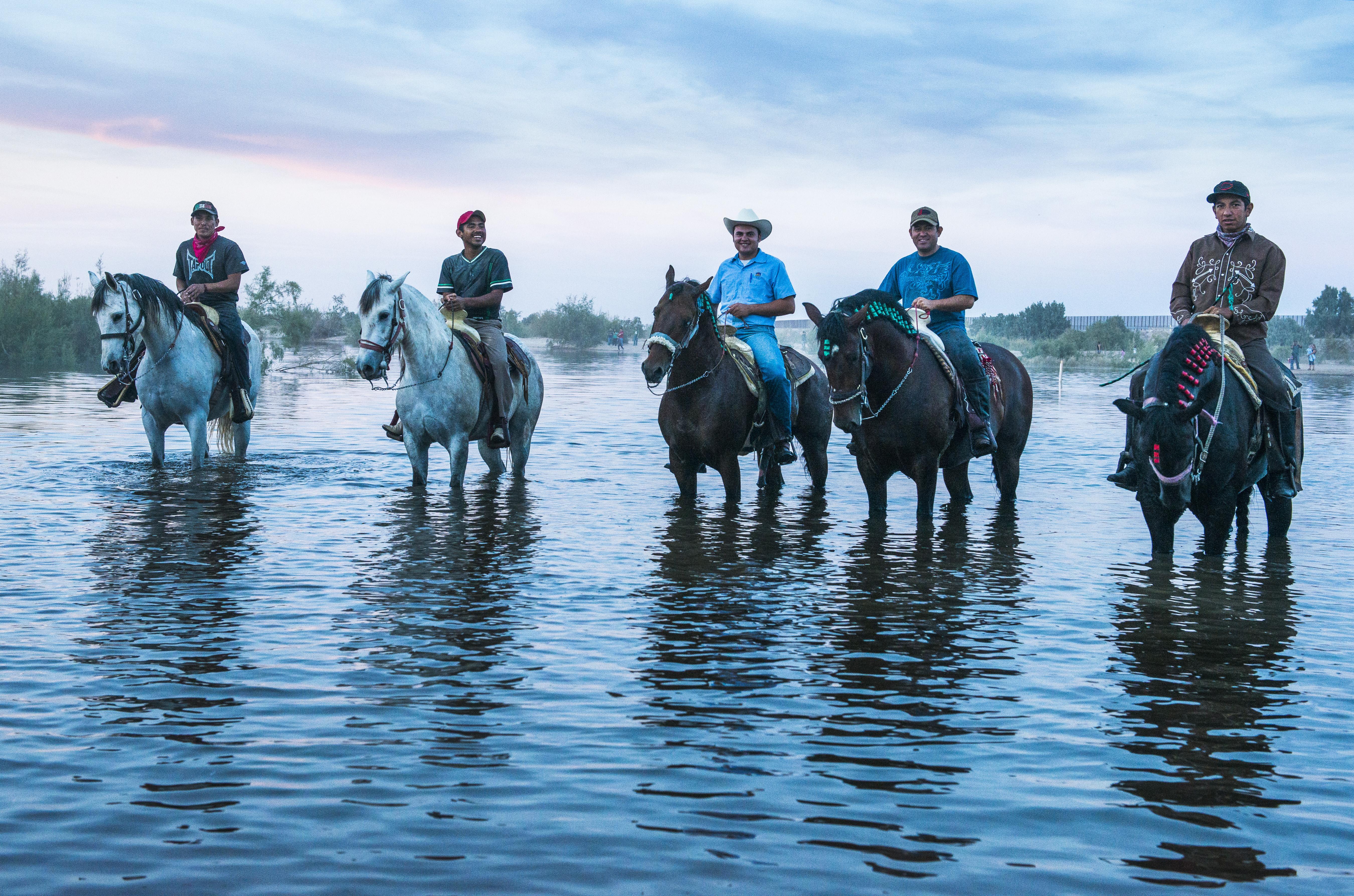 Photo: Colorado River reaches the ocean - Mexican cowboys Pete McBride