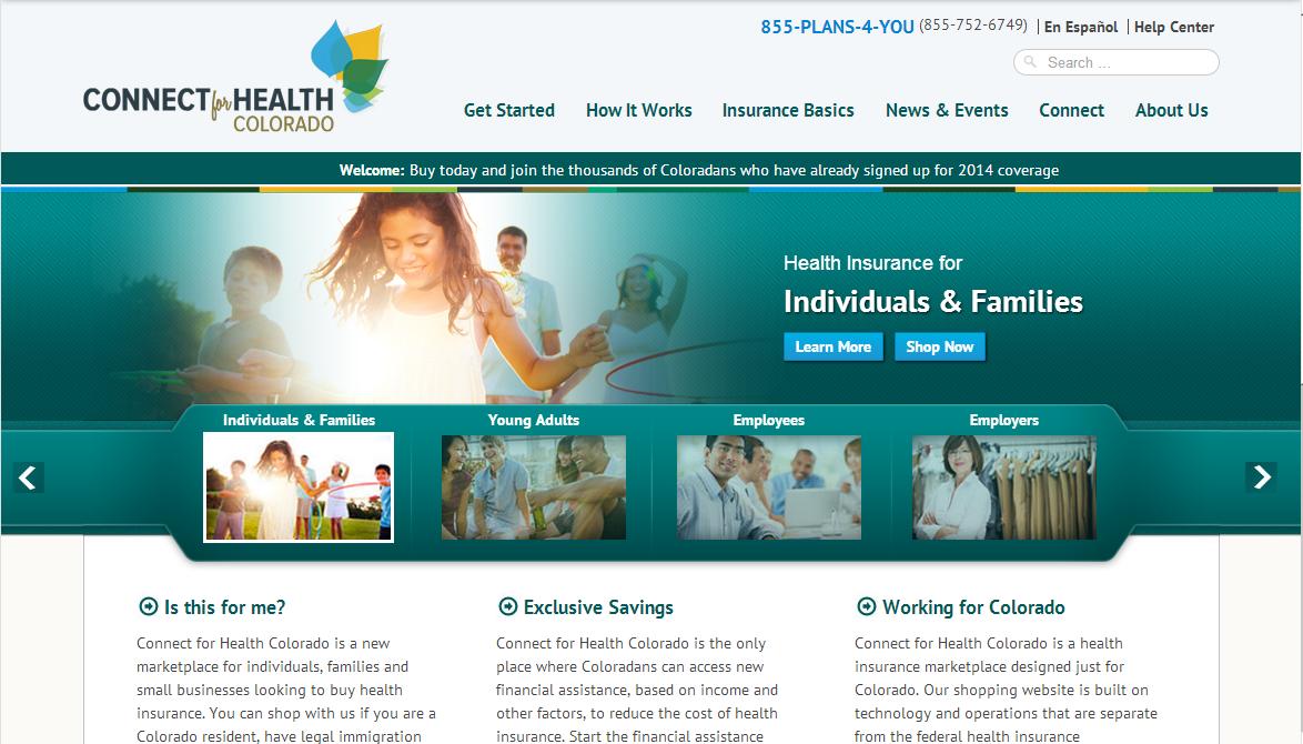 Photo: Connect for Health Colorado screenshot