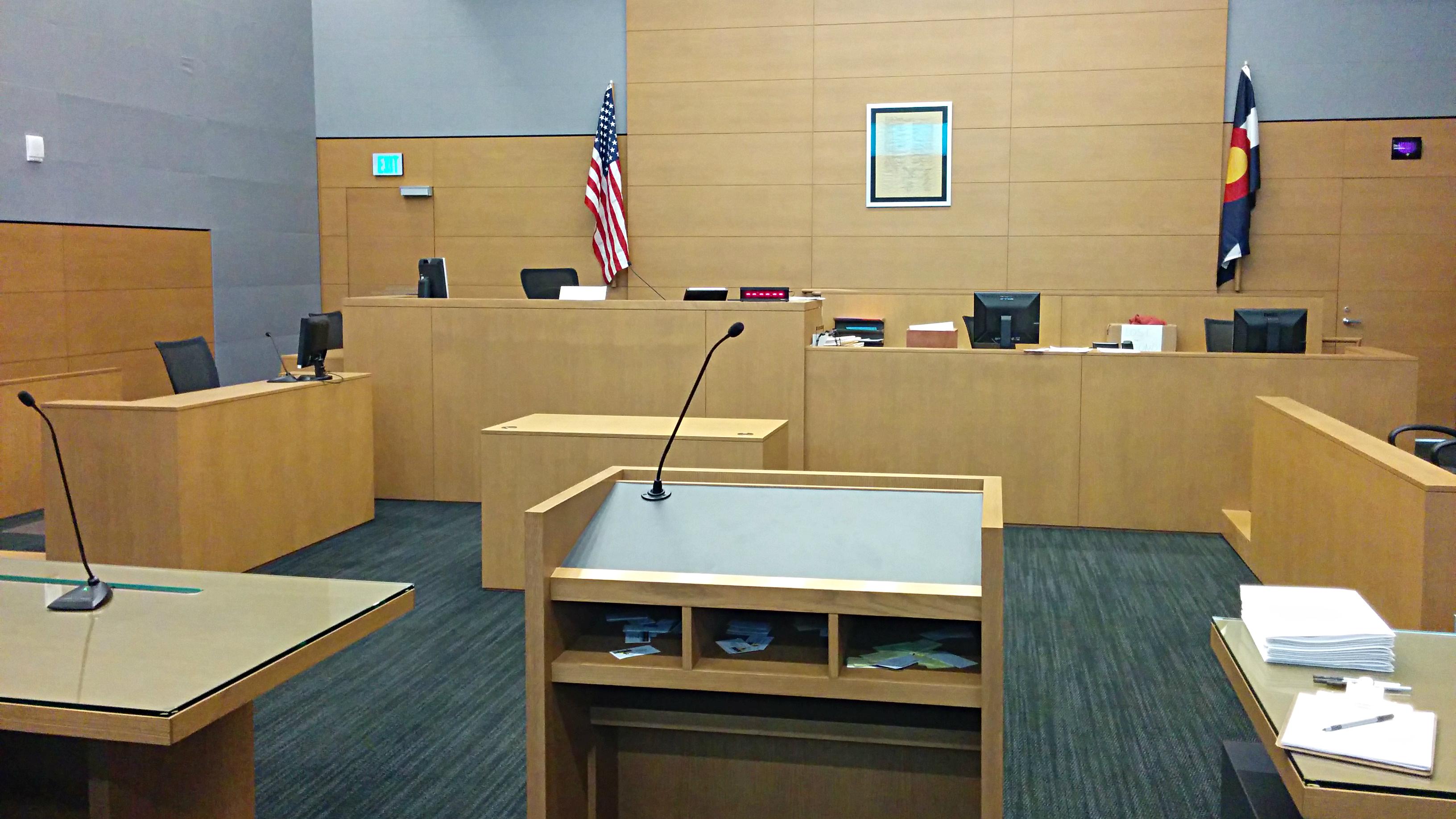 Photo: Courtroom for drug court