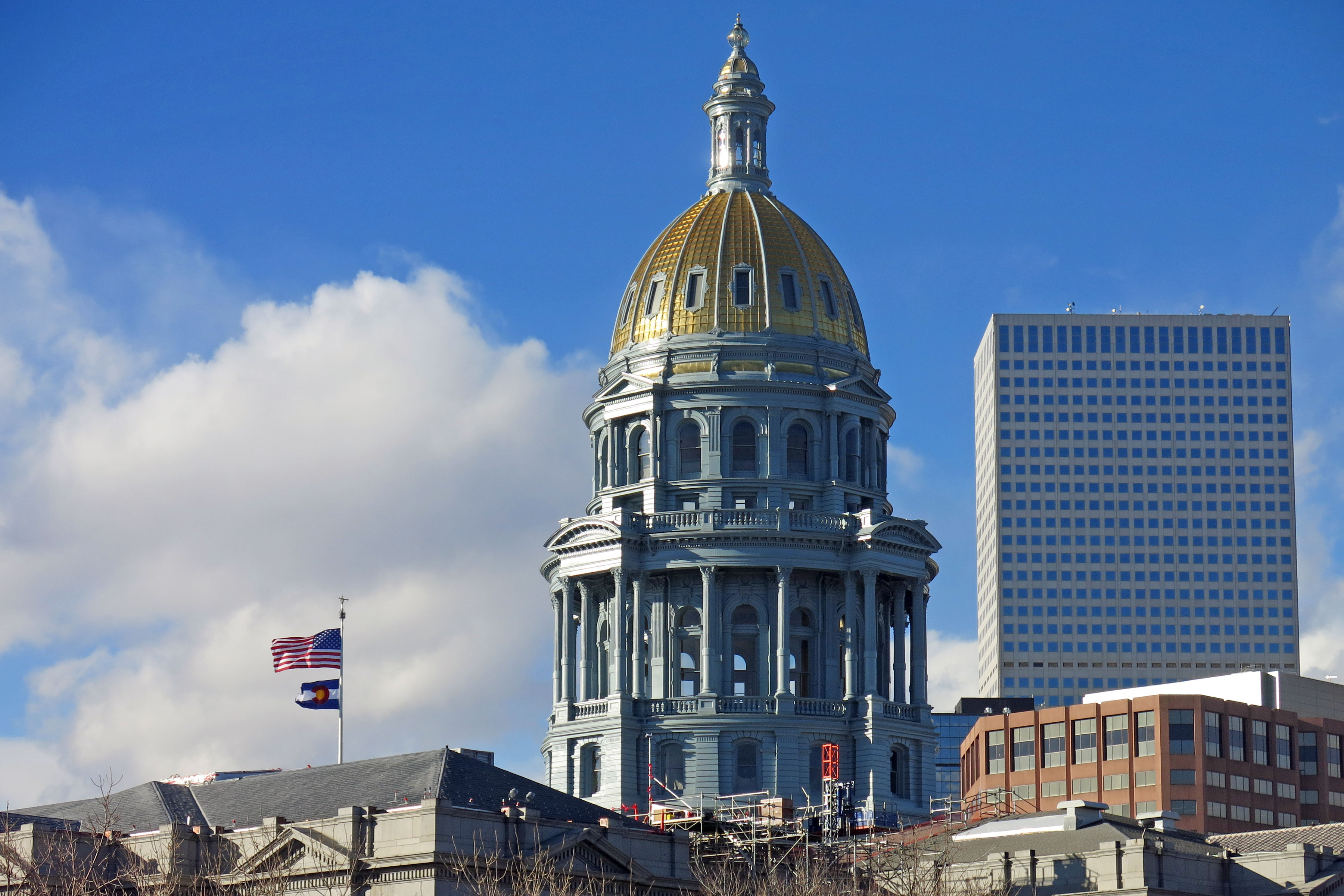 <p>The dome of the Colorado Capitol, January 2017.</p>