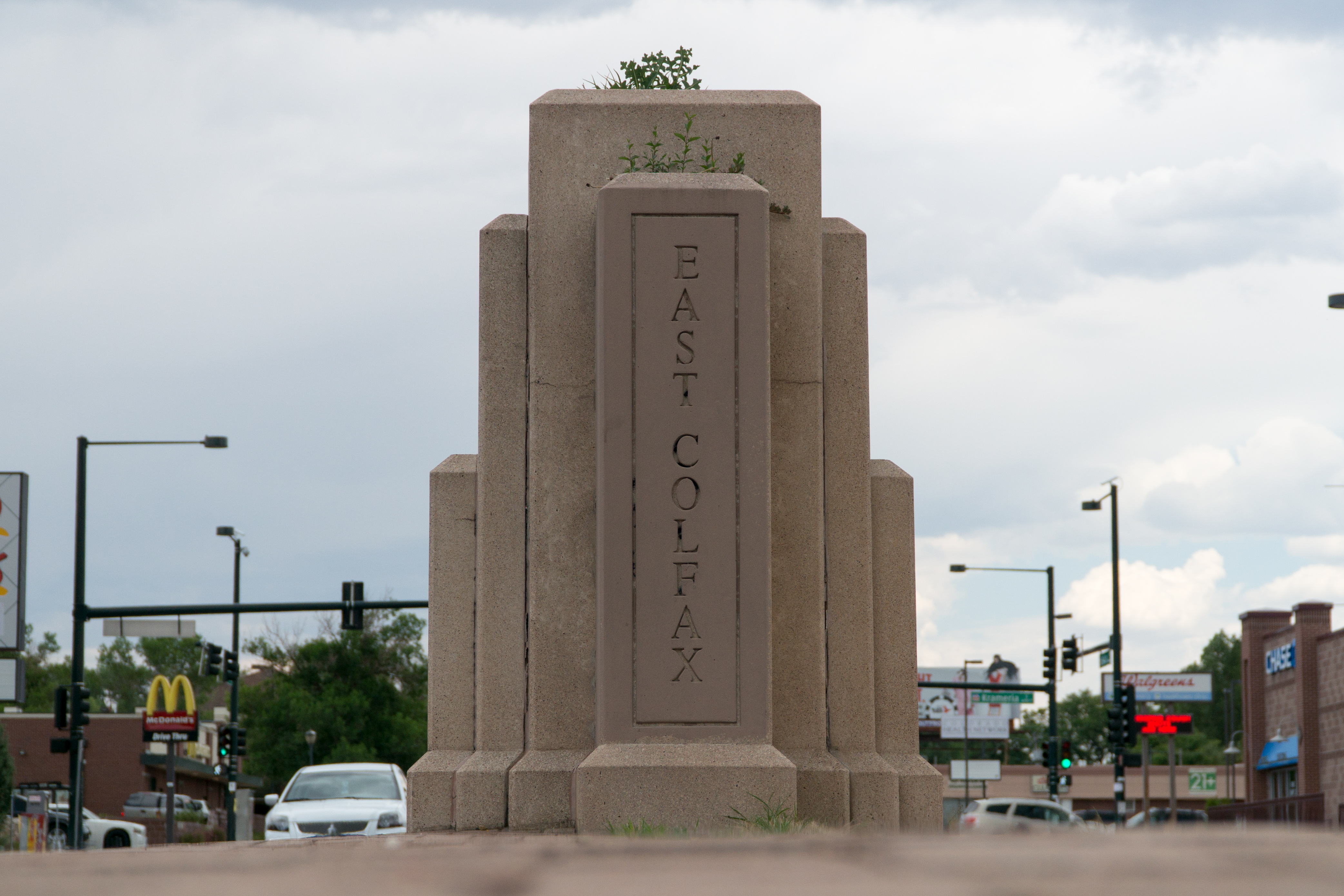 <p>This blink and you might miss it marker in the median lets eagle-eyed motorists know when their drive eastward on Colfax Avenue finally brings them to East Colfax.</p>