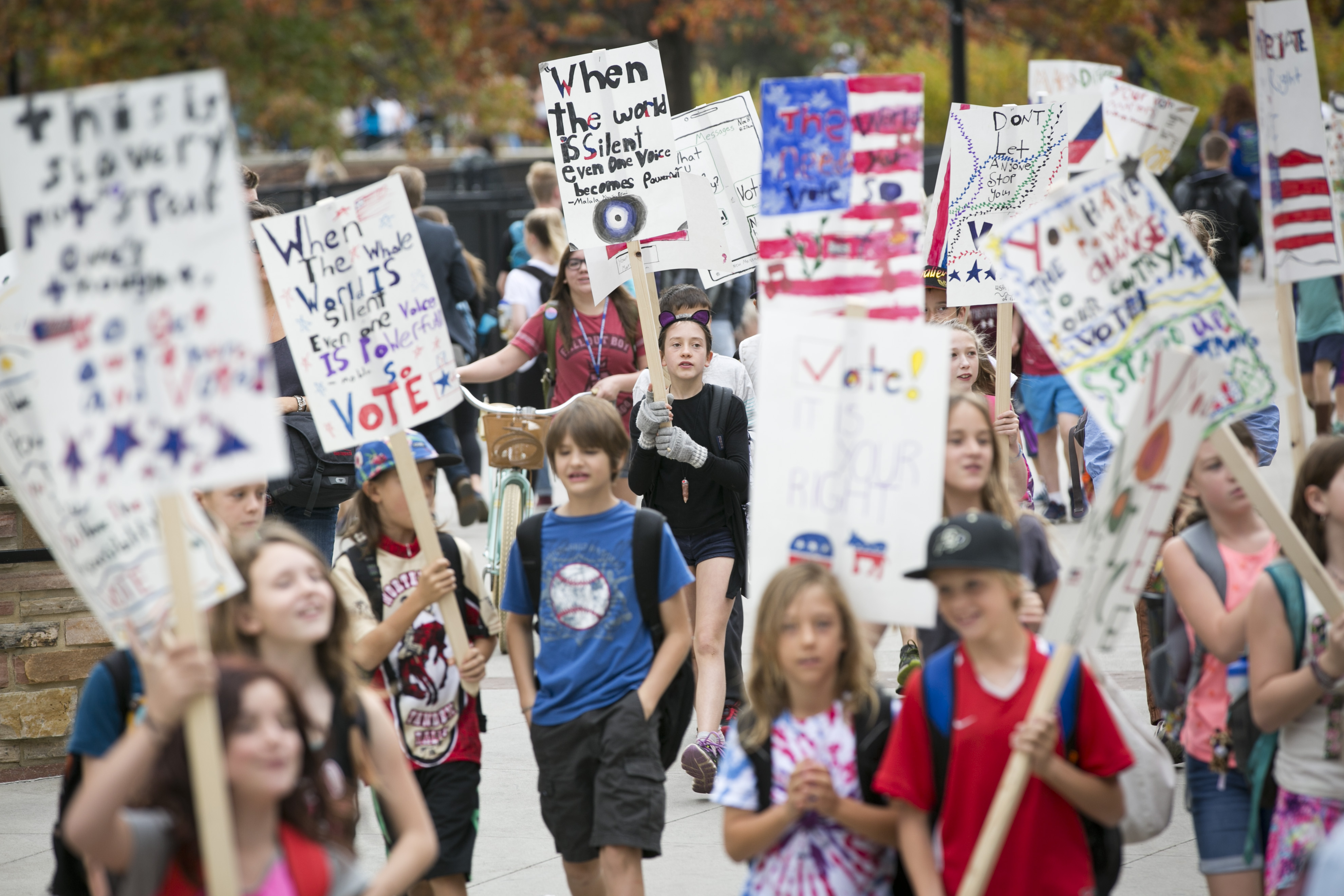 Photo: CU fifth graders 4 | Students march