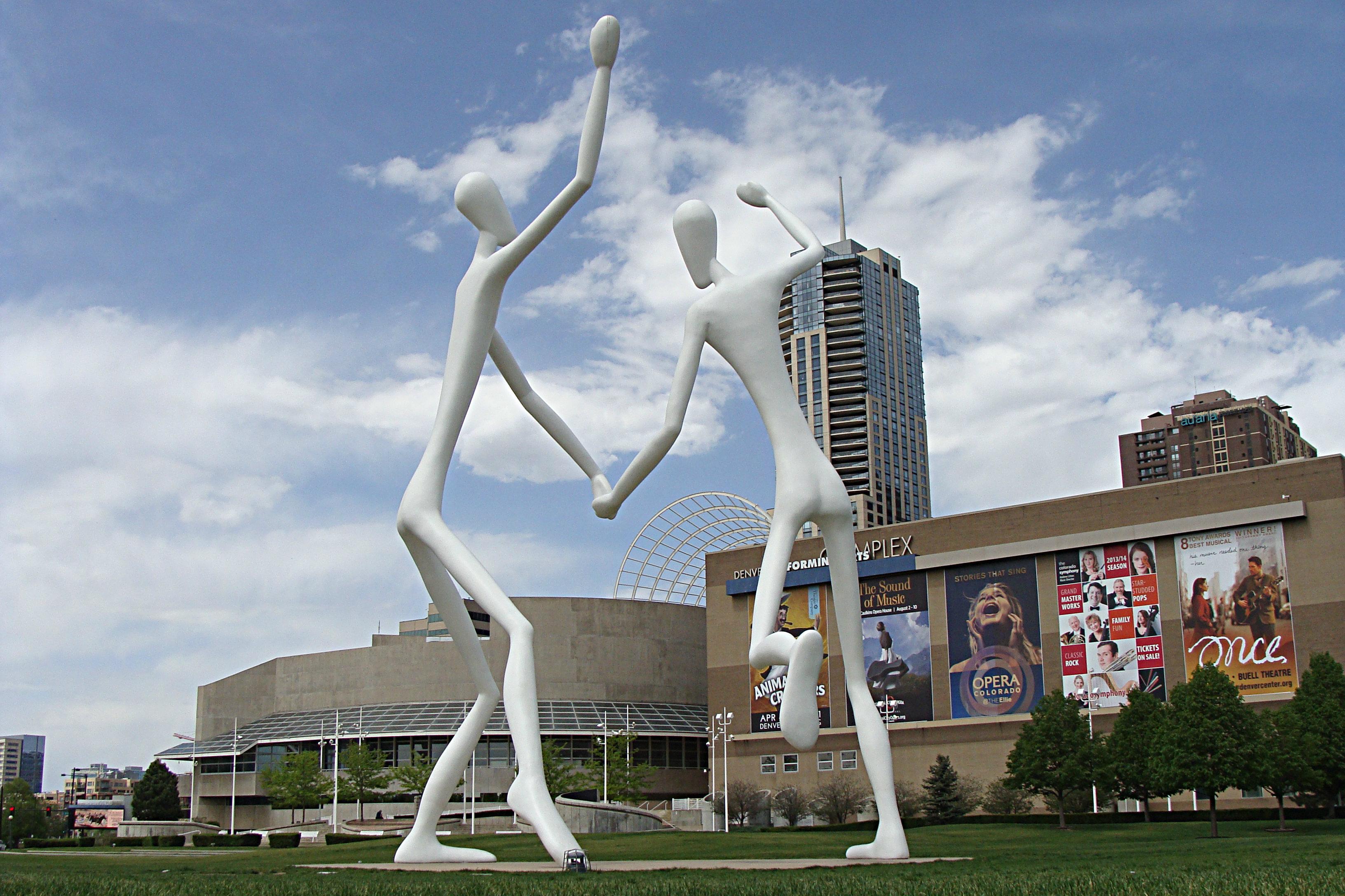 <p>Denver Performing Arts Complex's (DPAC)sculpture garden along Speer Boulevard.</p>