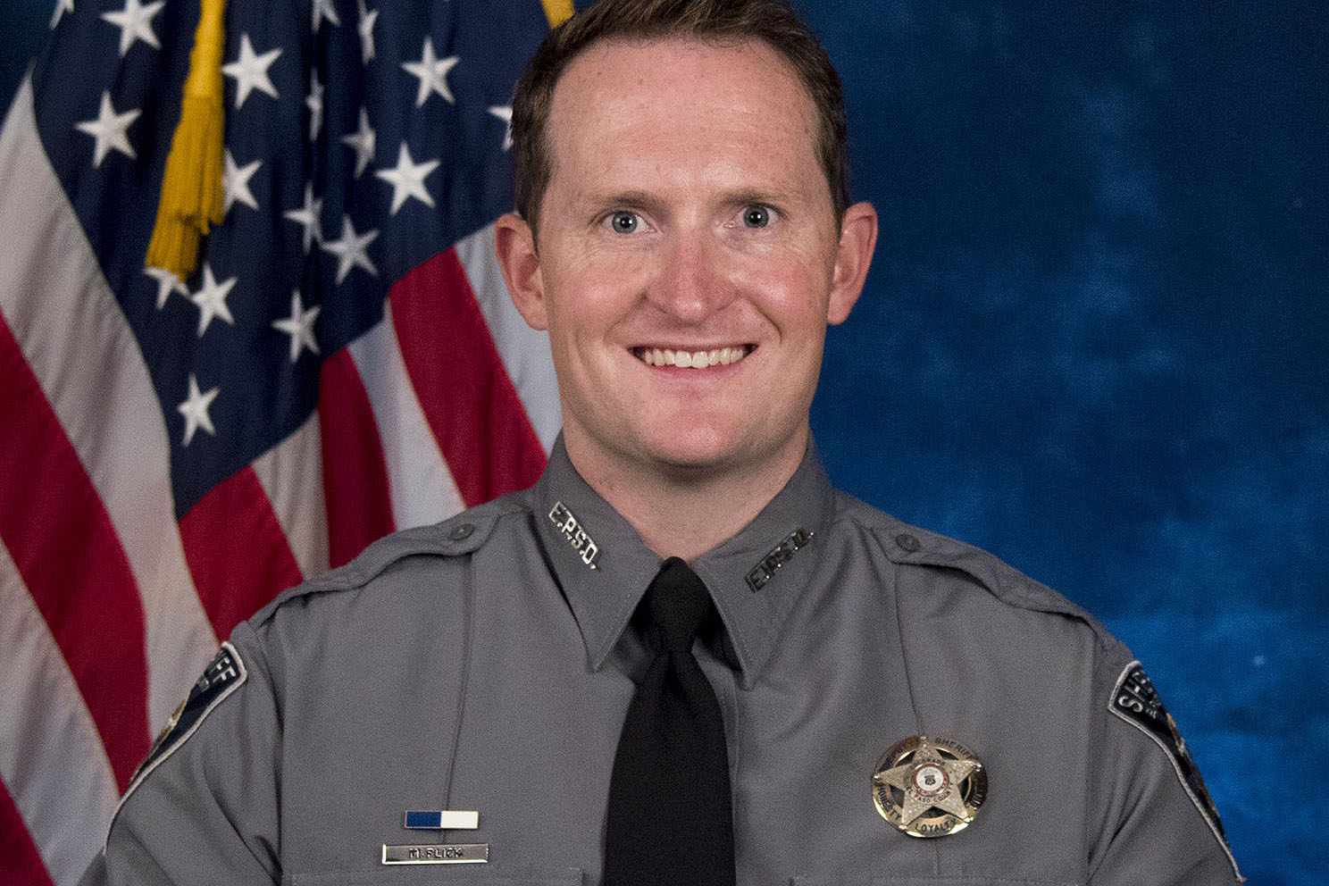 <p>Deputy Micah Flick, in a photo released Monday, Feb. 5, 2018 by the El Paso County Sheriff.</p>