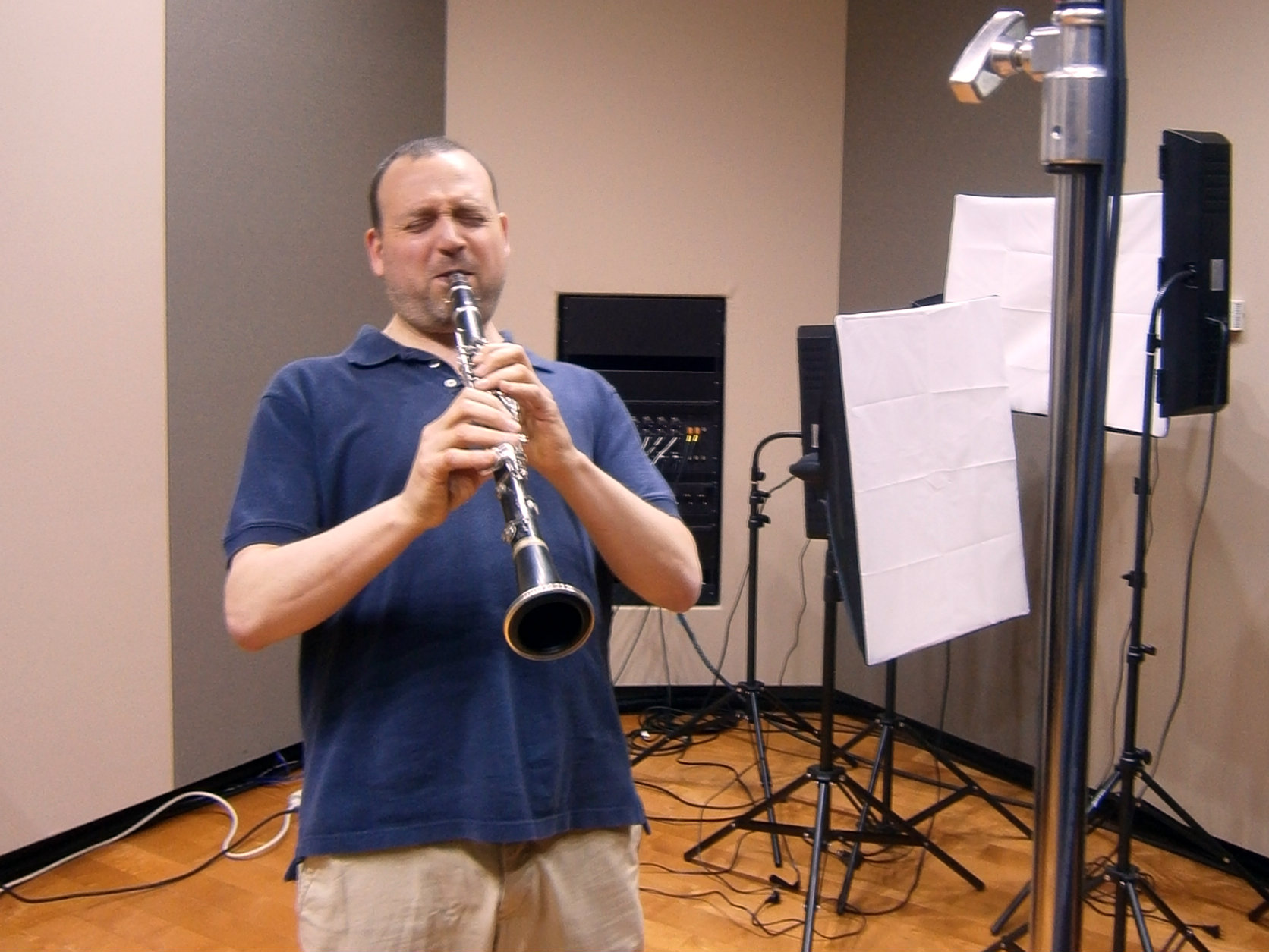 Photo: Derek Bermel in the CPR Performance Studio