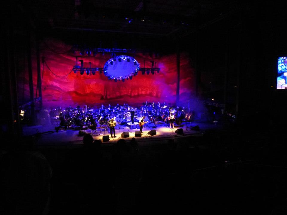 Photo: DeVotchKa at Red Rocks with the Colorado Symphony, 2012
