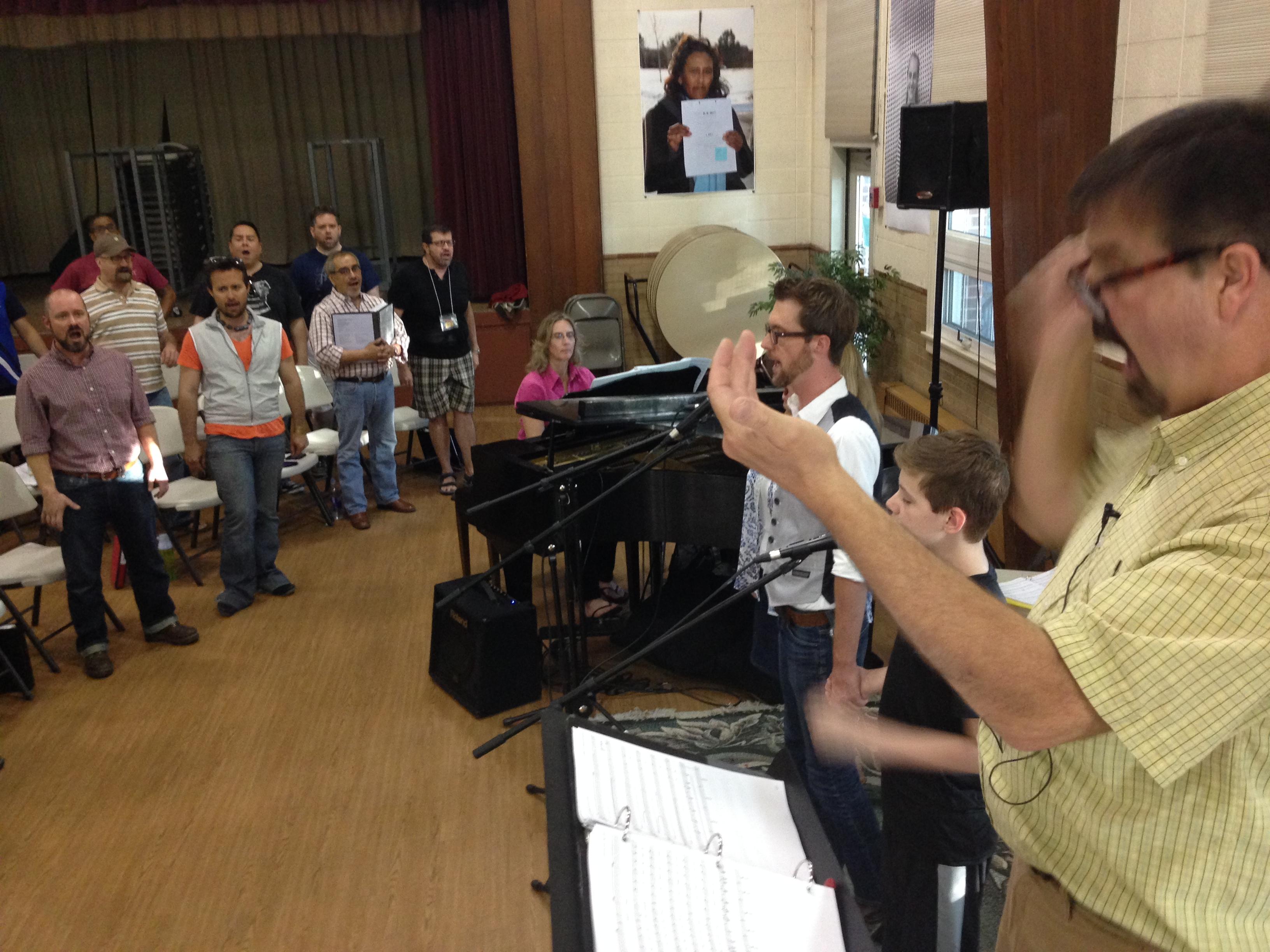Photo: Denver Gay Men's Chorus rehearsal 2014