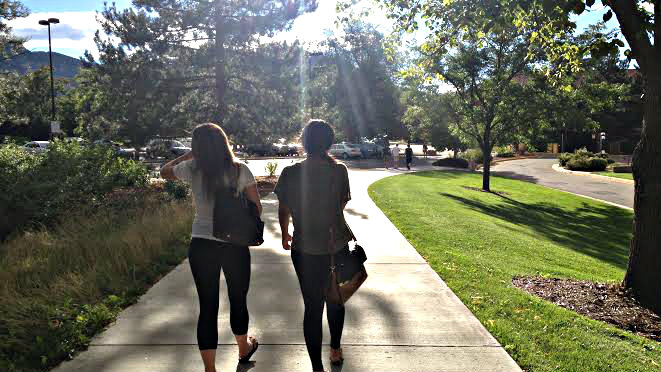 Photo: 2 women on Boulder campus