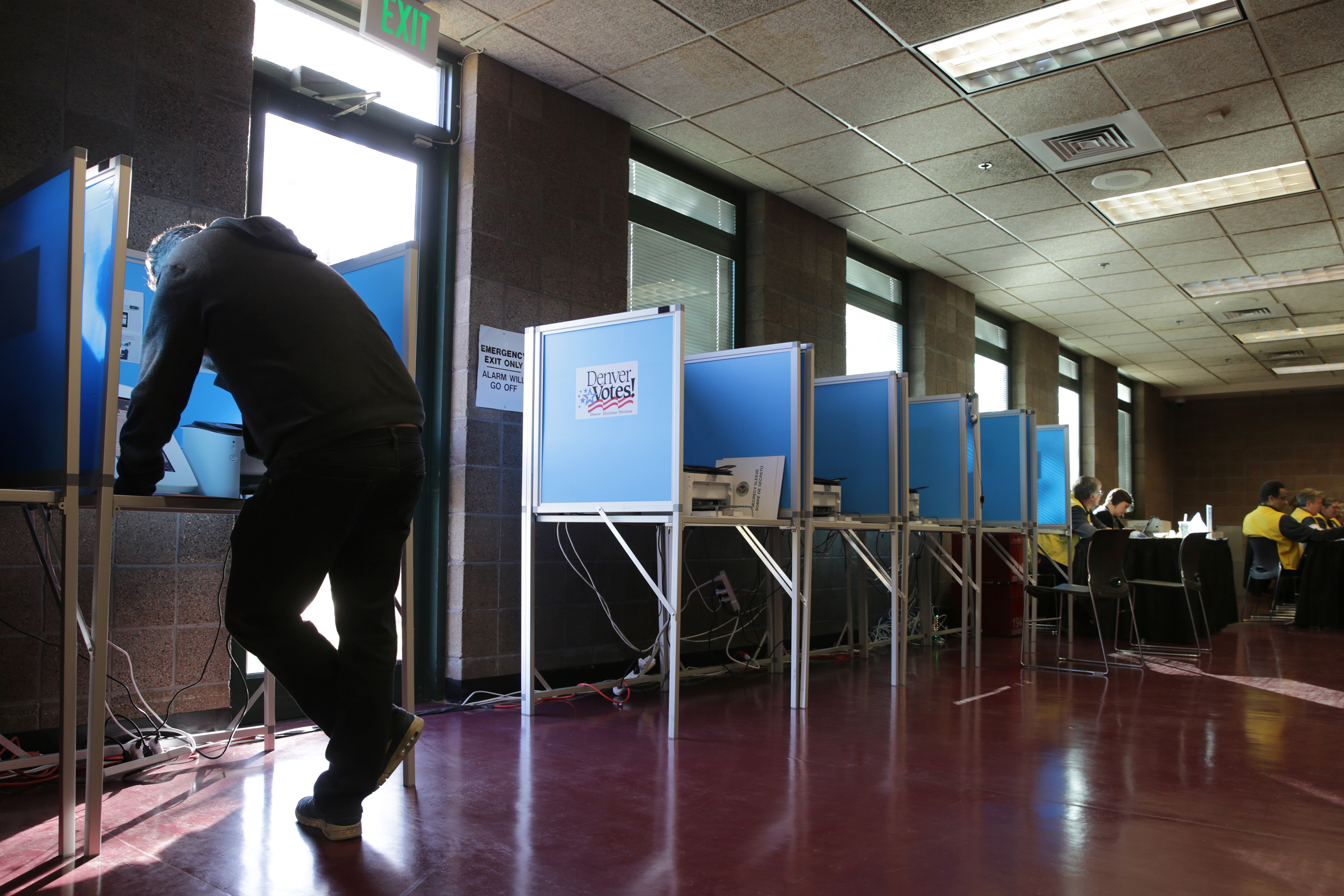 Voting at the Hiawatha David Jr. Rec. Center polling station in Denver's Park Hill neighborhood on Election Day 2016.