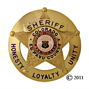 Photo: El Paso County Sheriff's badge