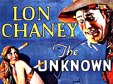 "<p>Film poster for the 1927 film ""The Unknown"" starring <span style=""line-height: 1.66667em;"">Colorado Springs native </span><span style=""line-height: 1.66667em;"">Lon Chaney.</span></p>"