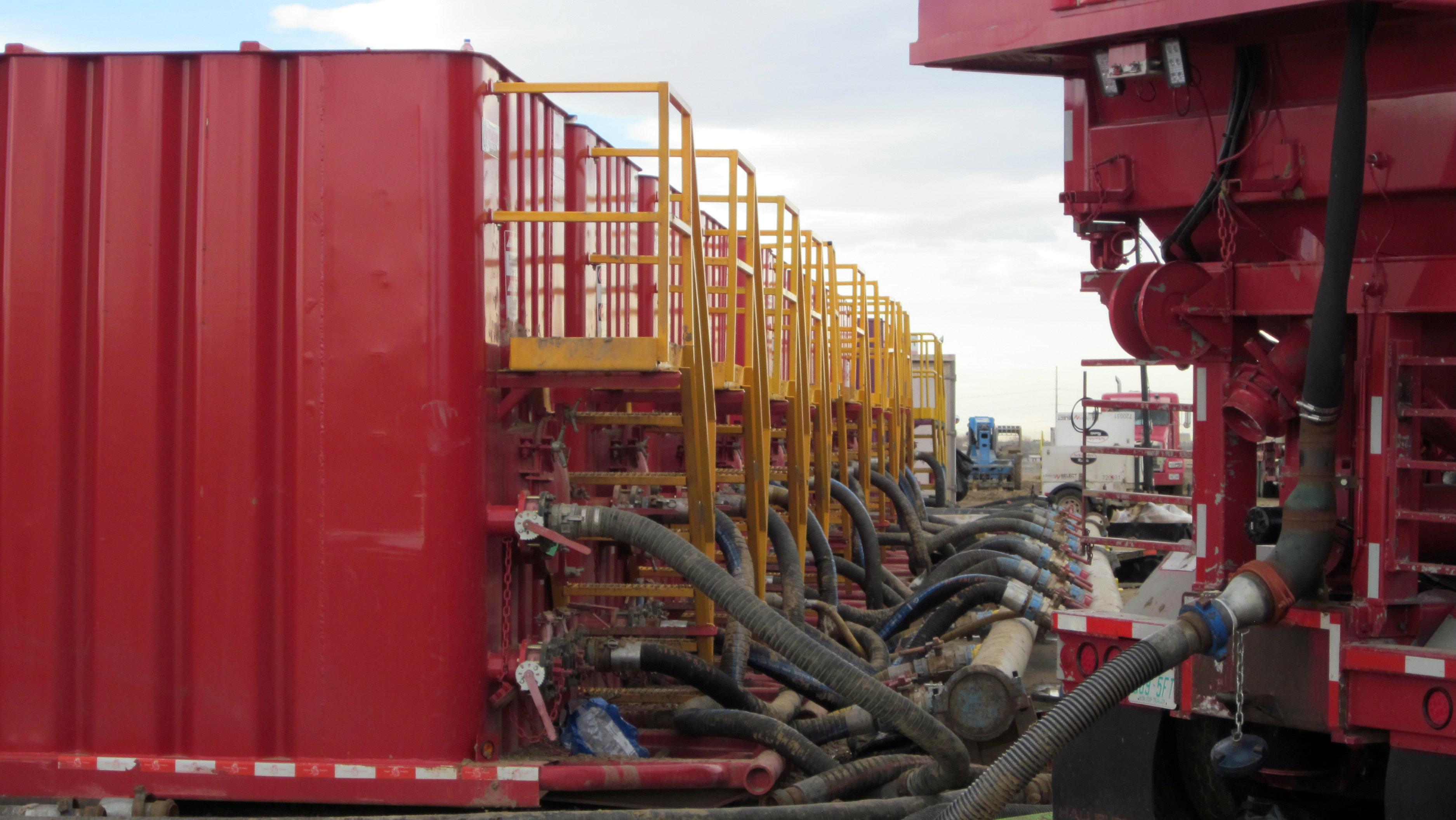 Photo: Fracking trucks