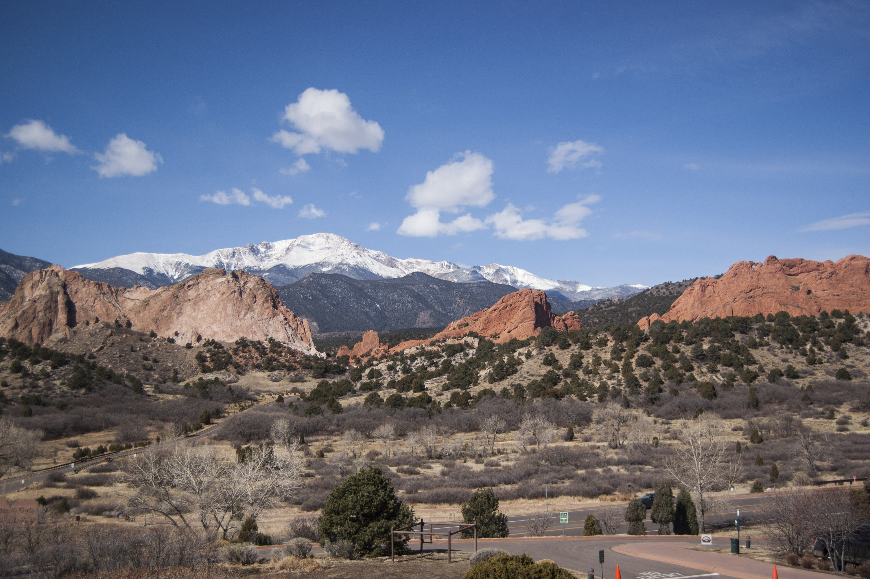 <p>The iconic view of Garden of the Gods and Pike's Peak from the second floor deck of the Visitor and Nature Center. Hank Scarangella, president of Friends of the Garden of the Gods, worries that view would be spoiled by the addition of another parking lot.</p>