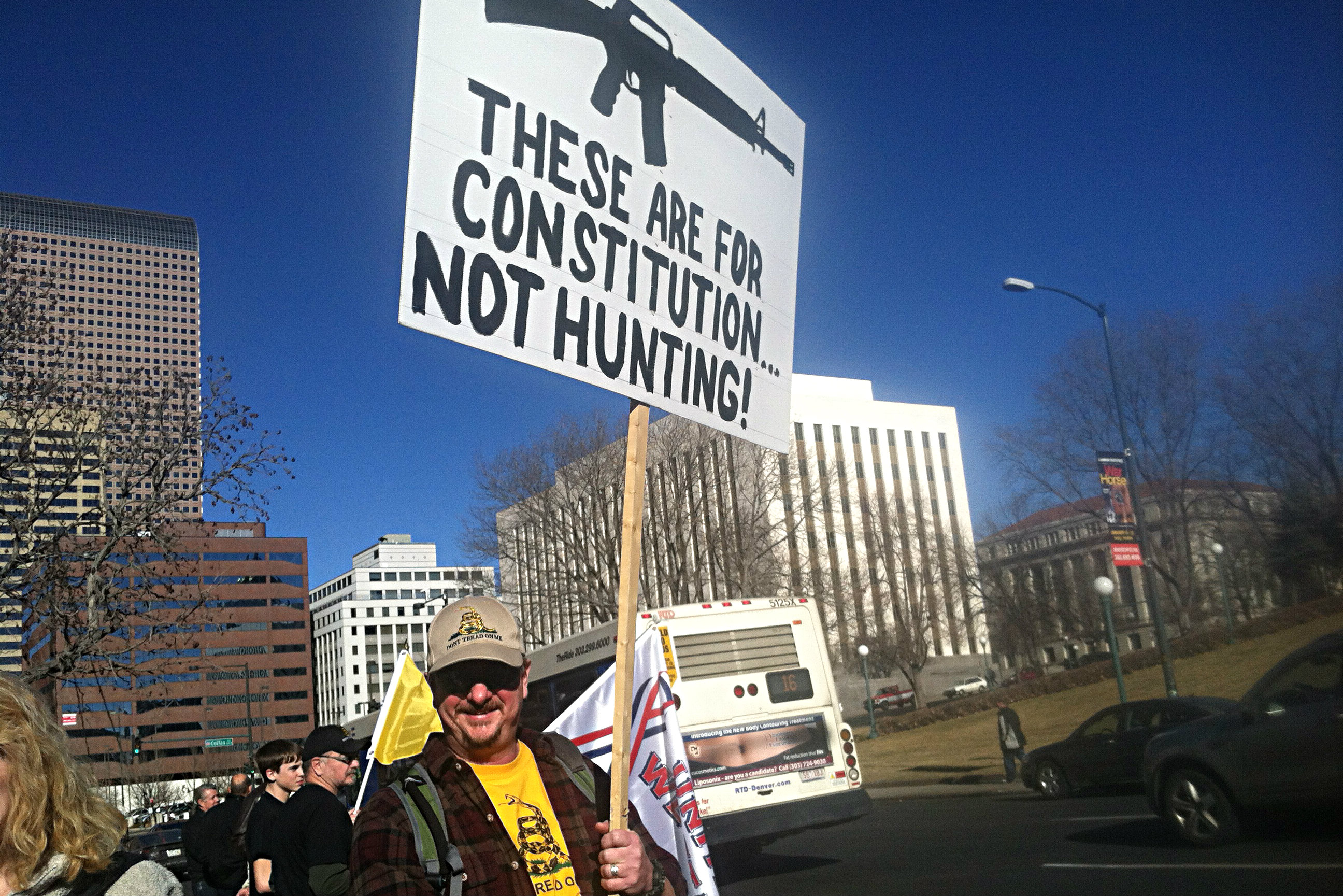 Photo: gun rights protester