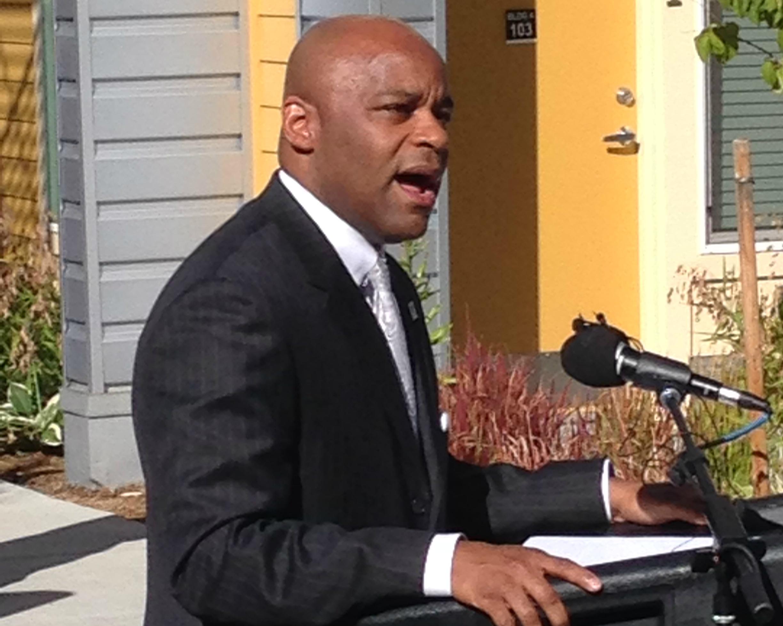 Photo: Mayor Michael Hancock housing plan