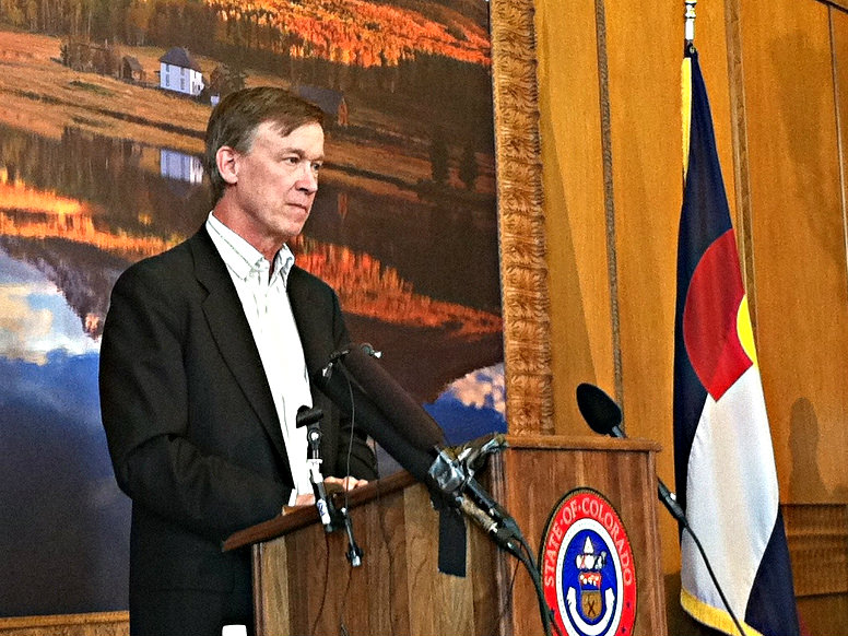 Photo: Hickenlooper at podium