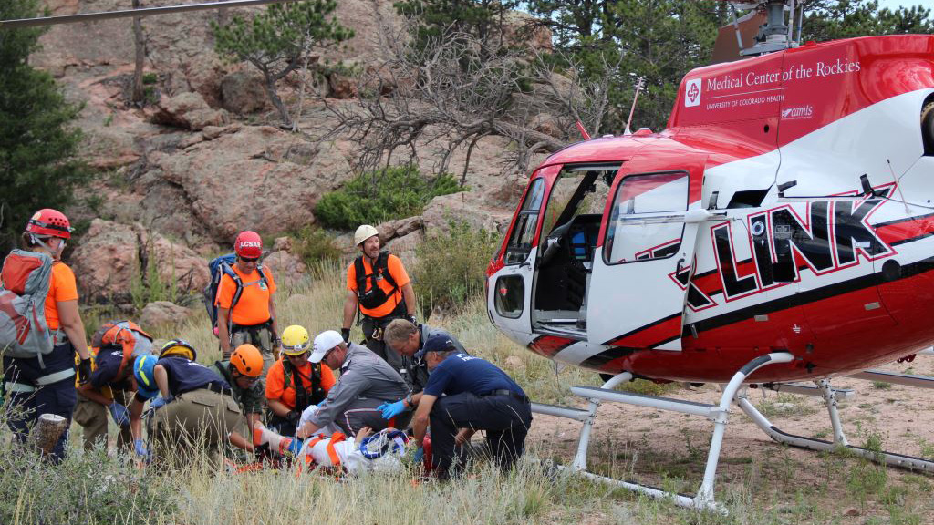 Photo: Hiker rescued near Fort Collins