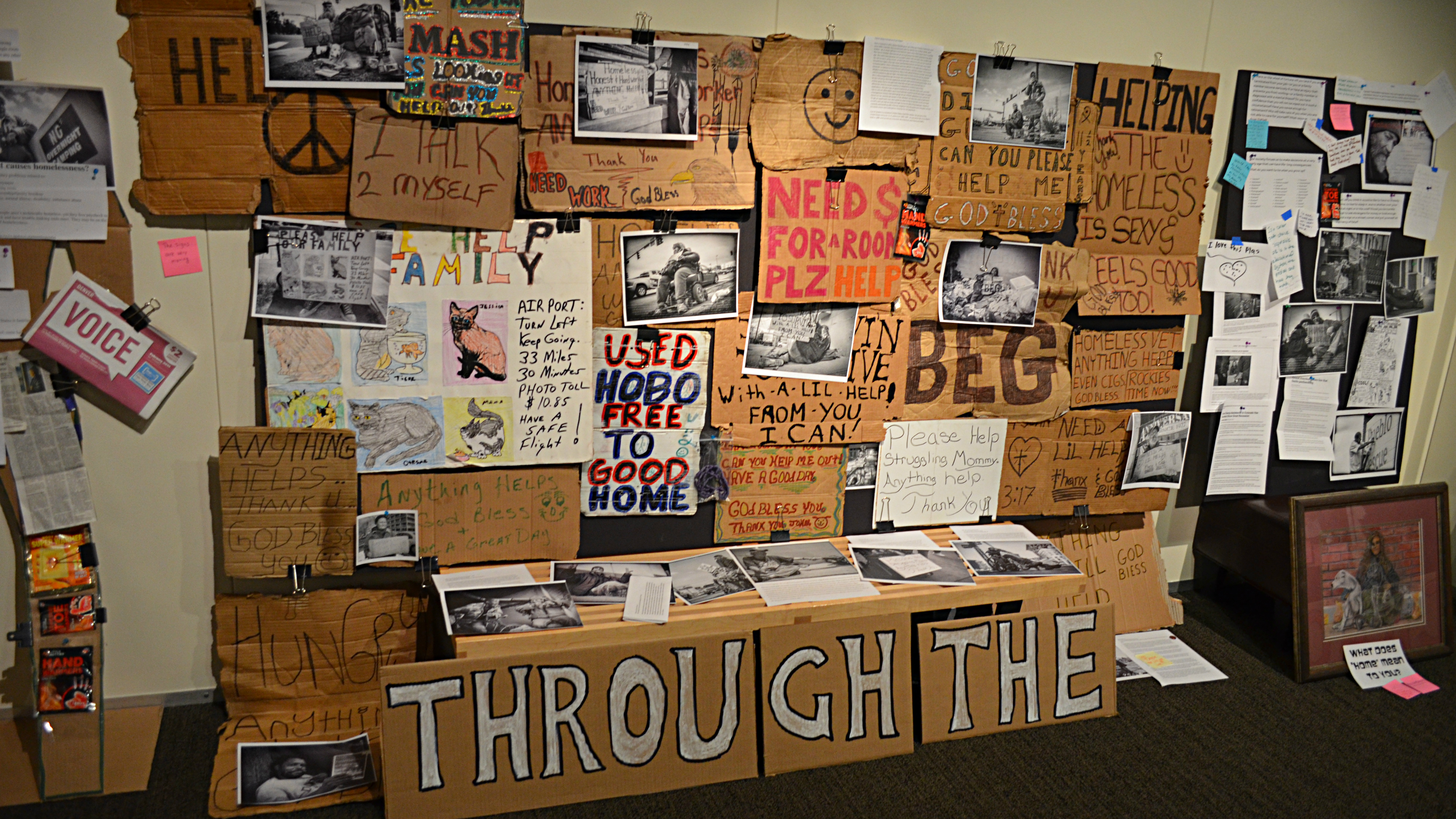 <p>This is a prototype of history display on homelessness at History Colorado's museum in downtown Denver. </p>