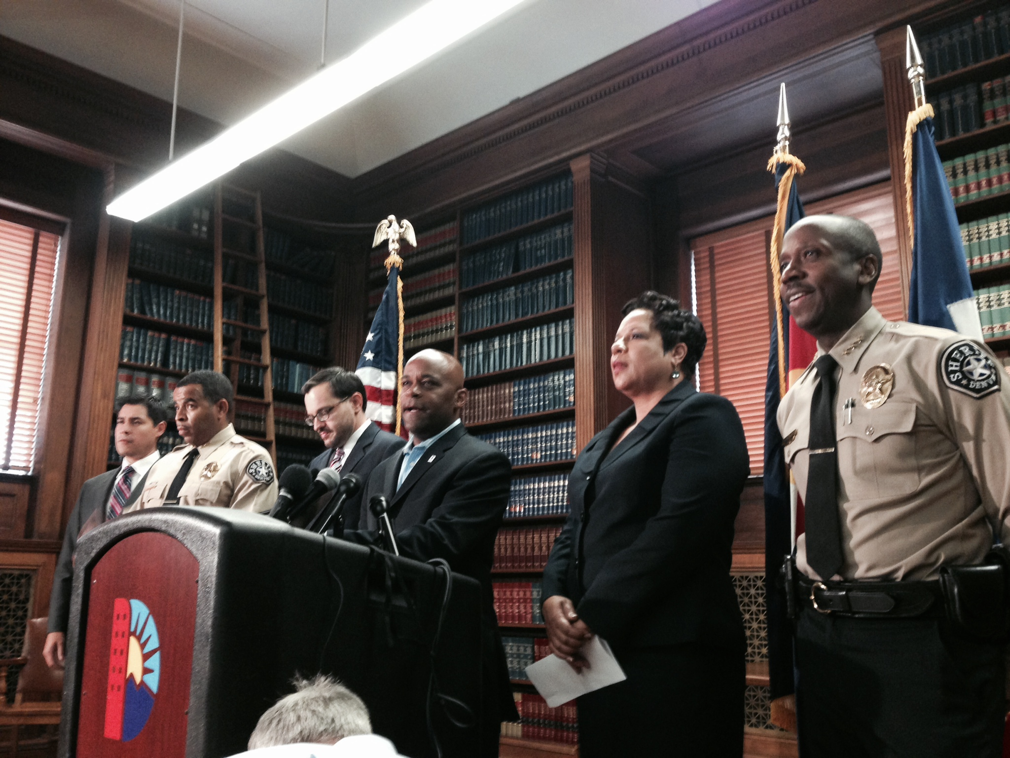 Photo: Denver mayor announces sheriff's resignation