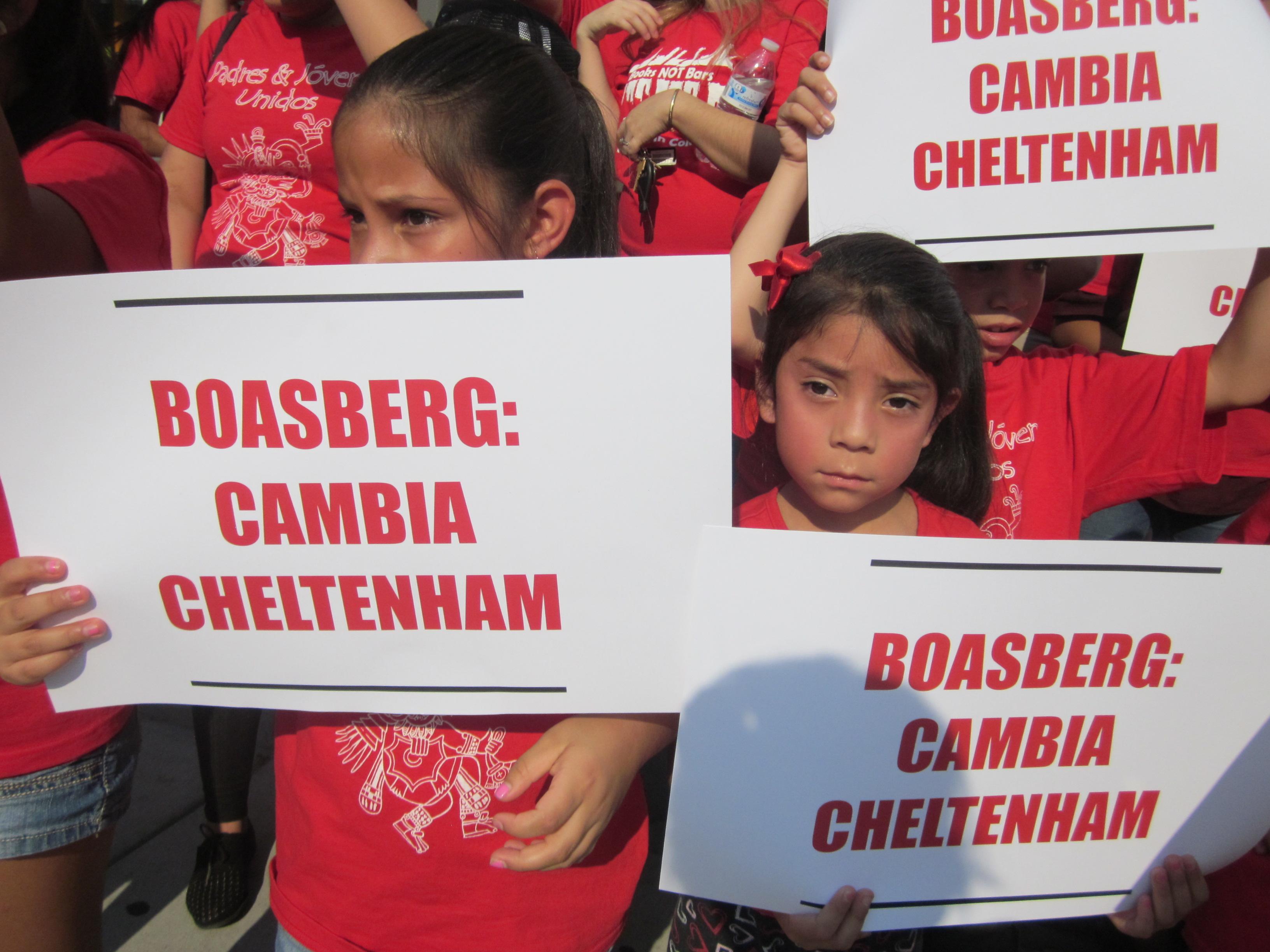 Photo: Cheltenham students at demo
