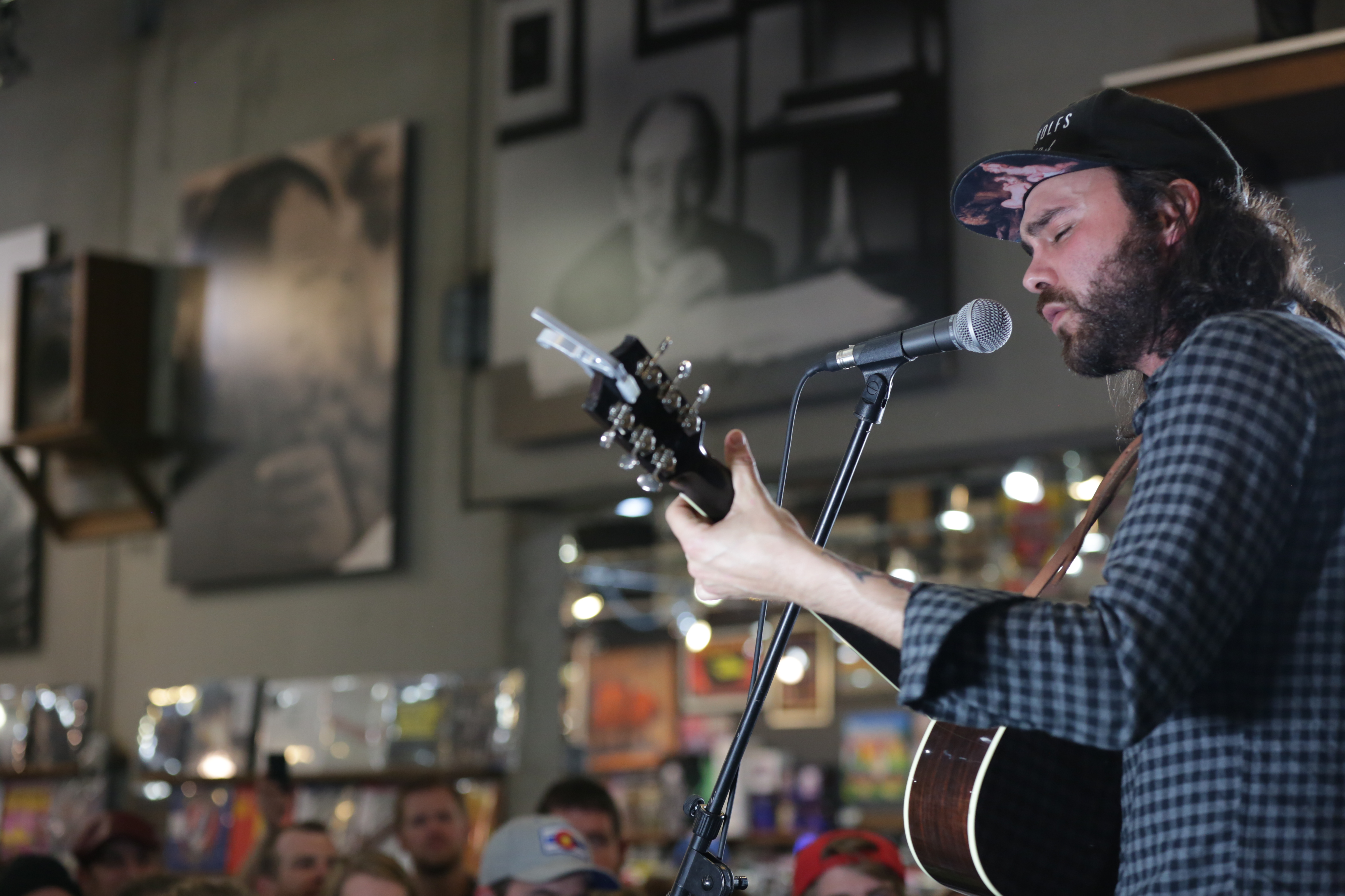 Photo: Shakey Graves performs at Twist & Shout Records