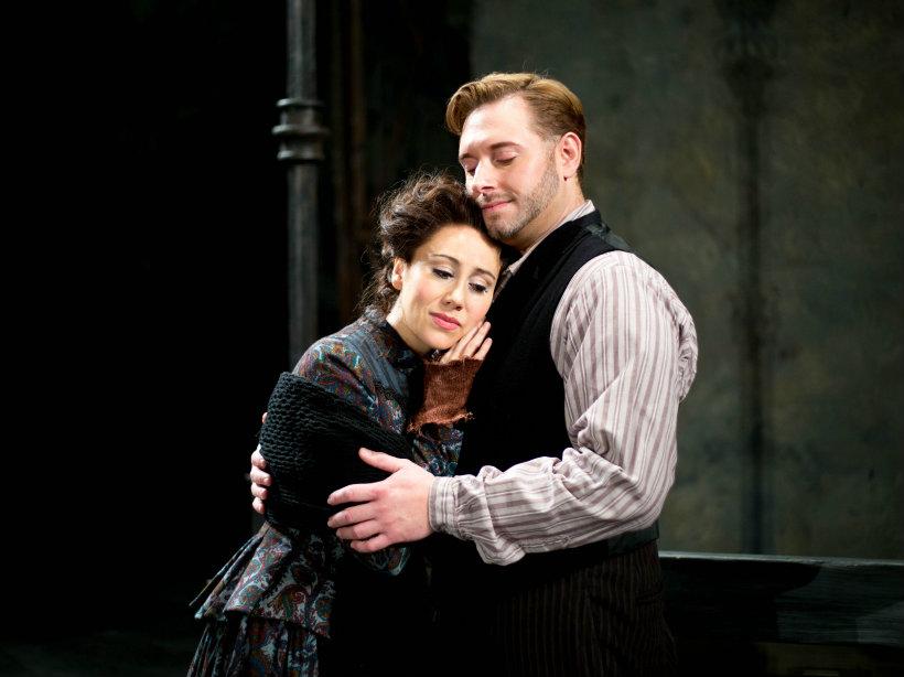 """<p>A scene from Opera Colorado's production of Puccini's""""La Boheme.""""Soprano Anya Matanovic plays Mimi and tenor Dominick Chenes plays Rodolfo.</p>"""