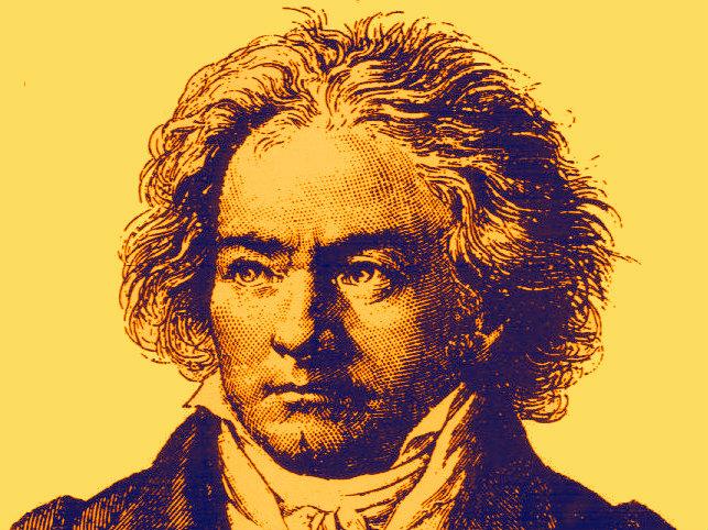 Photo: Beethoven duotone illustration