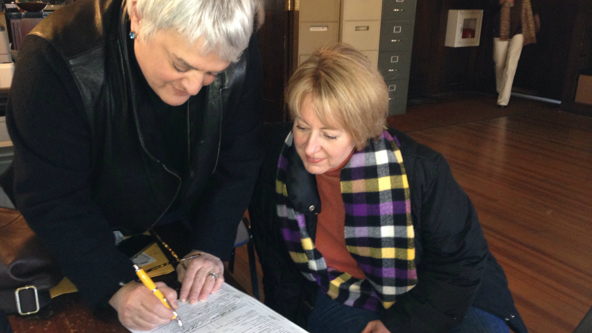 Photo: Gay marriage license signing