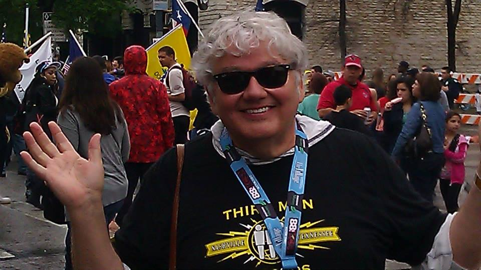 <p>Mike Flanagan enjoying the sights and sounds of SXSW</p>