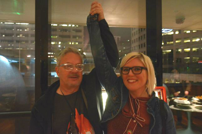 <p>Mark Mothersbaugh and Alisha Sweeney</p>