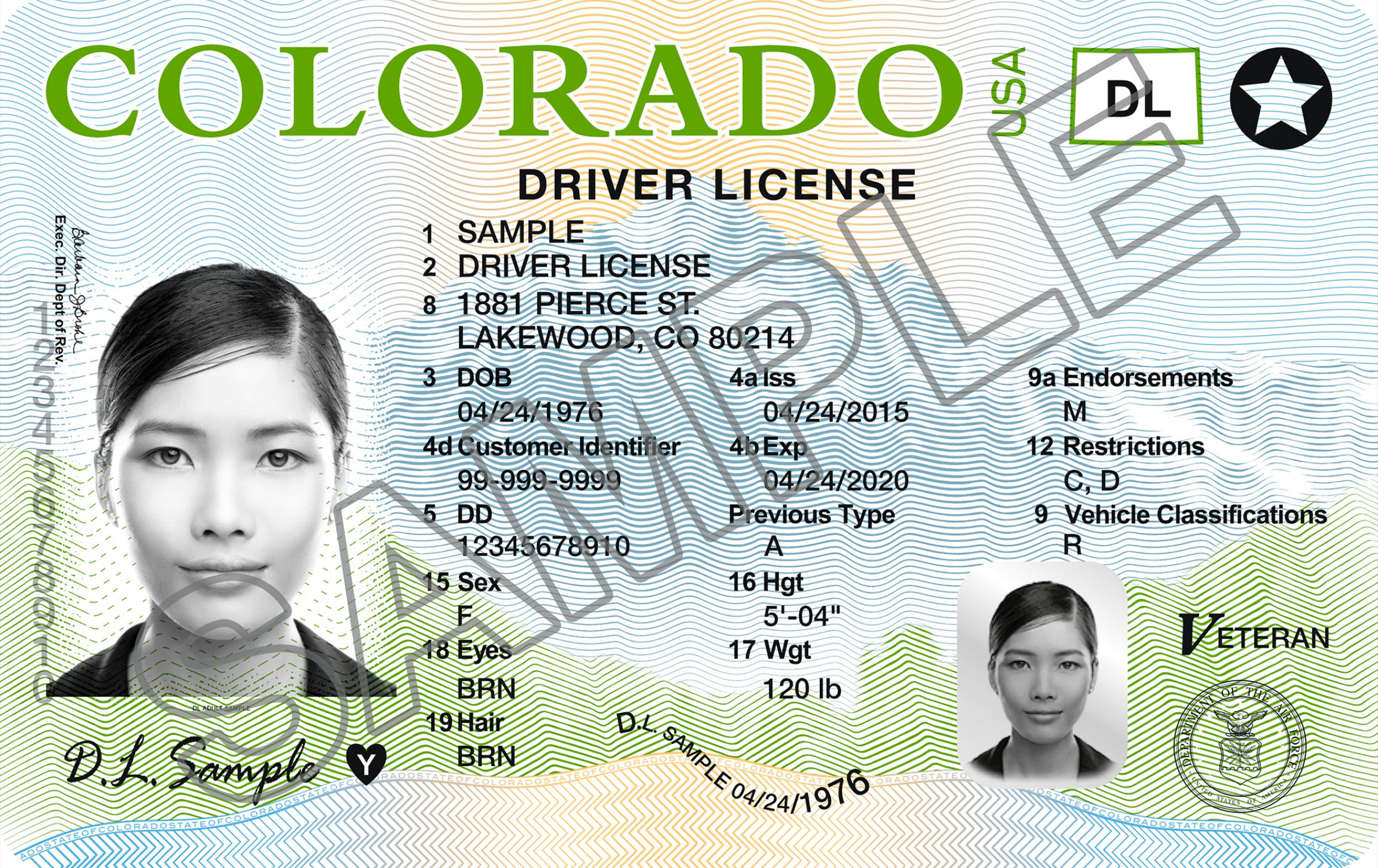 <p>Colorado introduced a new design for driver's licenses in 2016.</p>