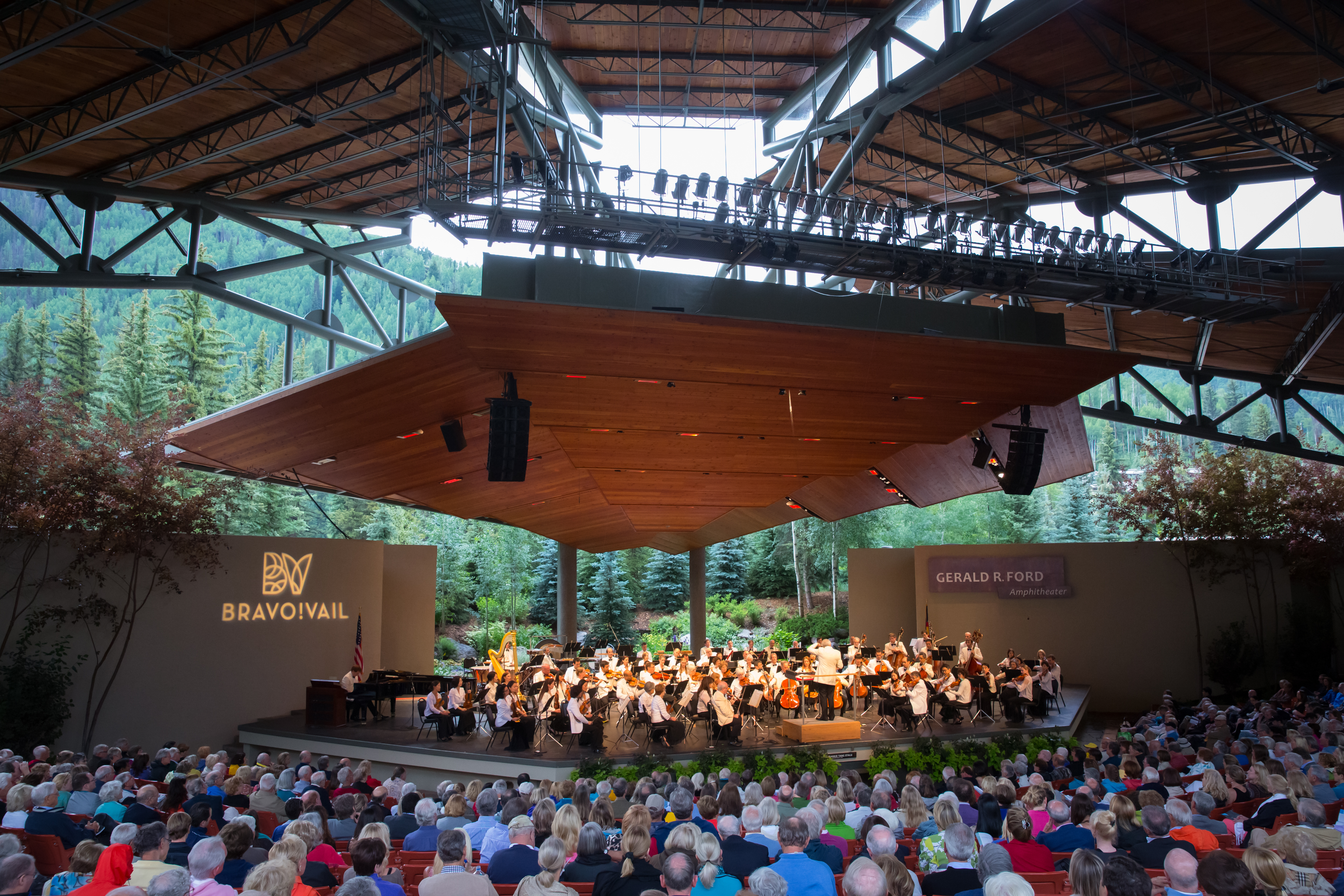The New York Philharmonic performs at Bravo! Vail in 2019.